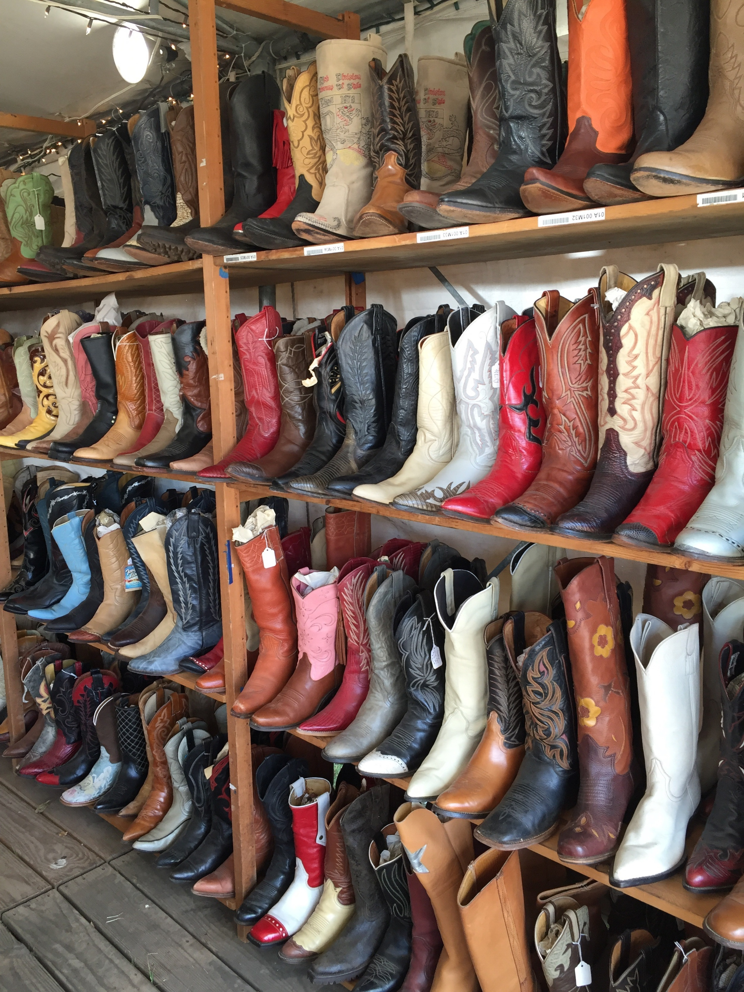This booth had loads and loads of used, but still fabulous boots.