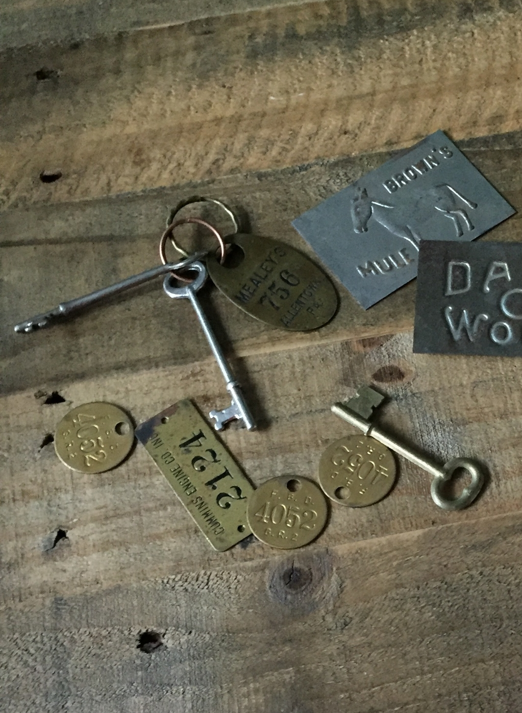"""I had purchased these antique coat check tags, skeleton keys,and tool tags earlier in the day. I was now in the market for something unique to help me turn this """"trash"""" into fabulous treasures. Sandy and his staff were great, and I have to give a {BIG} shout out to my girl Katie! To say she was great at her job, definitely would be an understatement.She could sell ice to an eskimo! I true asset to any sells business. Sandy is a lucky boss! Katie also manages the company Instagram...Go ahead and give her a holler!"""