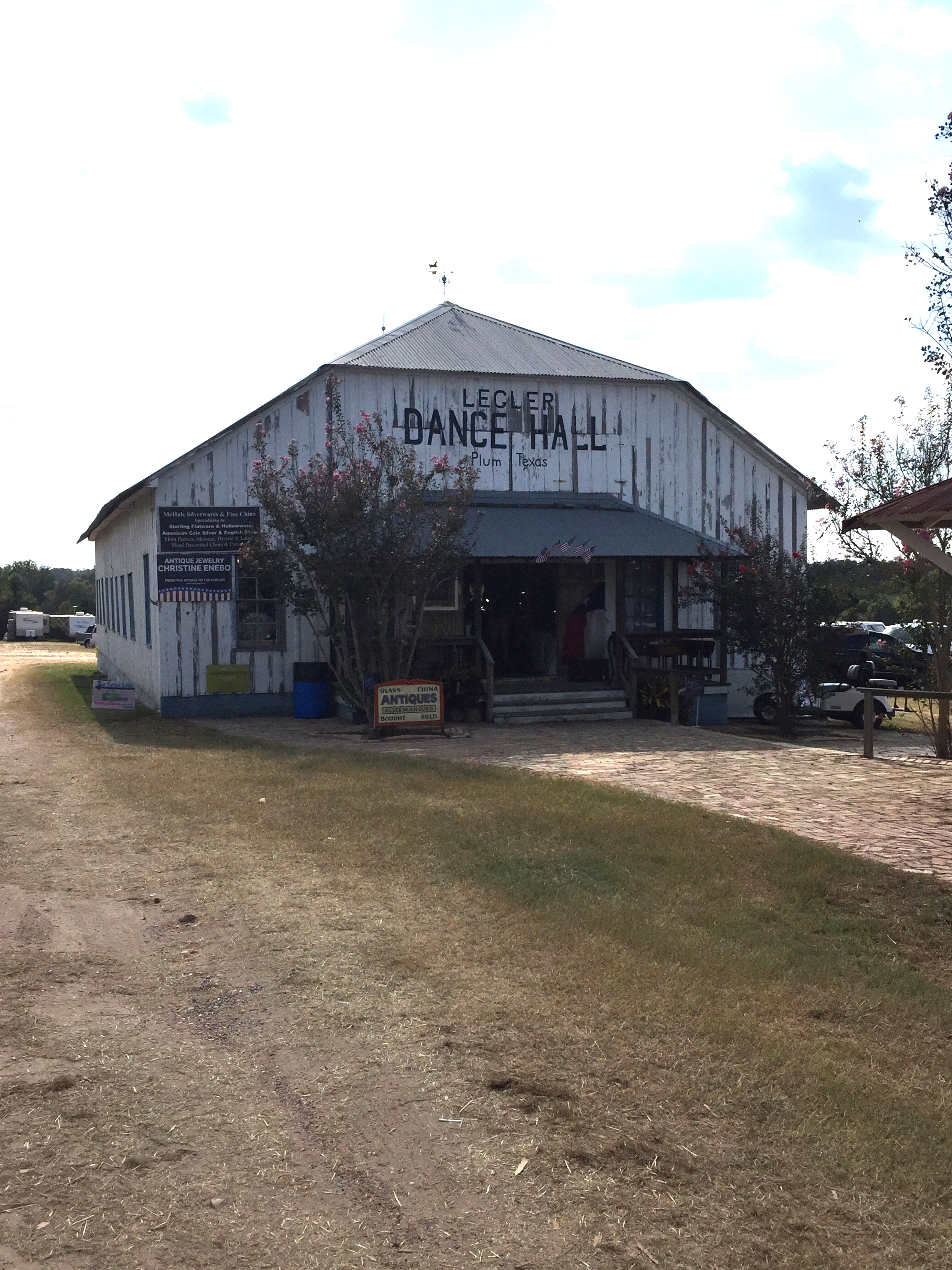 Along with the large temporary tents, the property has relocated old dance halls and general stores to also house vendors.