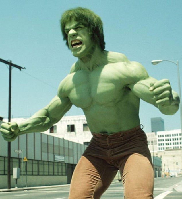 Leigh, actually picks Lou Ferrigno...the original Hulk!