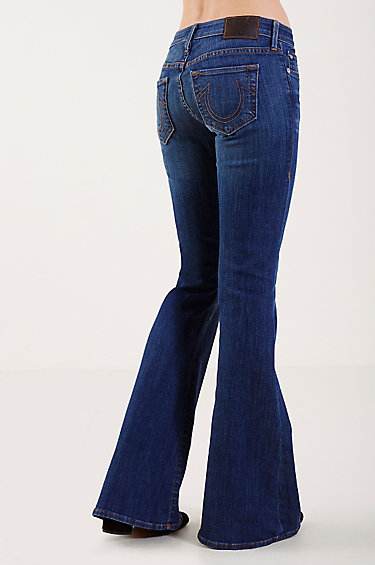 True Religion - Karlie Low Rise Bell Bottoms