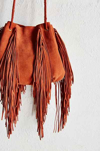 Ecote Fringe Bucket Bag  $69