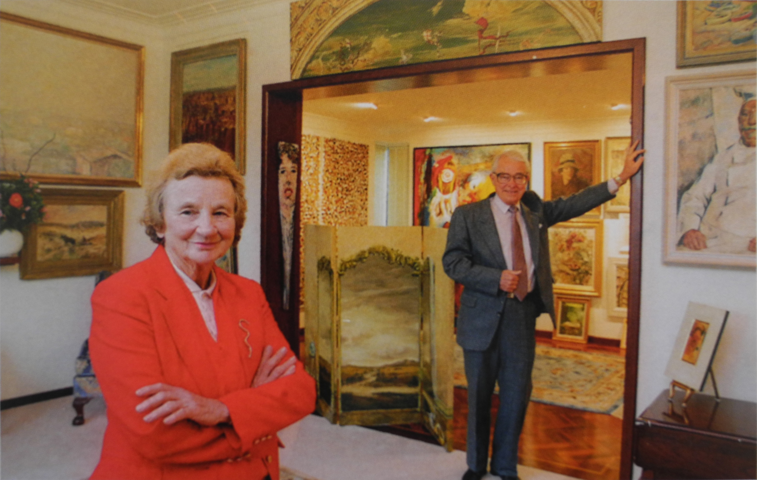 Sheila and Jim in the lounge room of the new family home in Bird Street, 1995.Photograph Richard Hatherly.Courtesy  The Sunday Times.