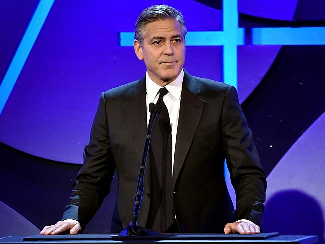 George Clooney's tequila business, Casamigos, was immortalized in paint by Mason. The original piece is valued at $10,000; Clooney and Gerber each have $2,500 reproductions. Source: Getty Images