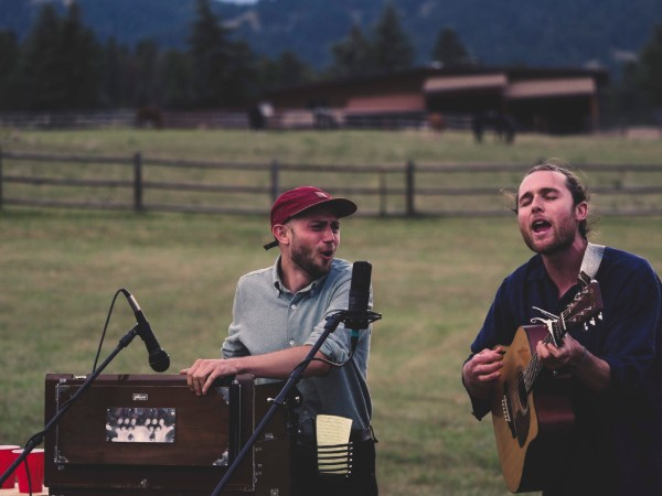 Finishing off the month with two shows and an album with the beautiful human that is Shawn Barry (left). Photo by Ben Shay in Evergreen, CO.