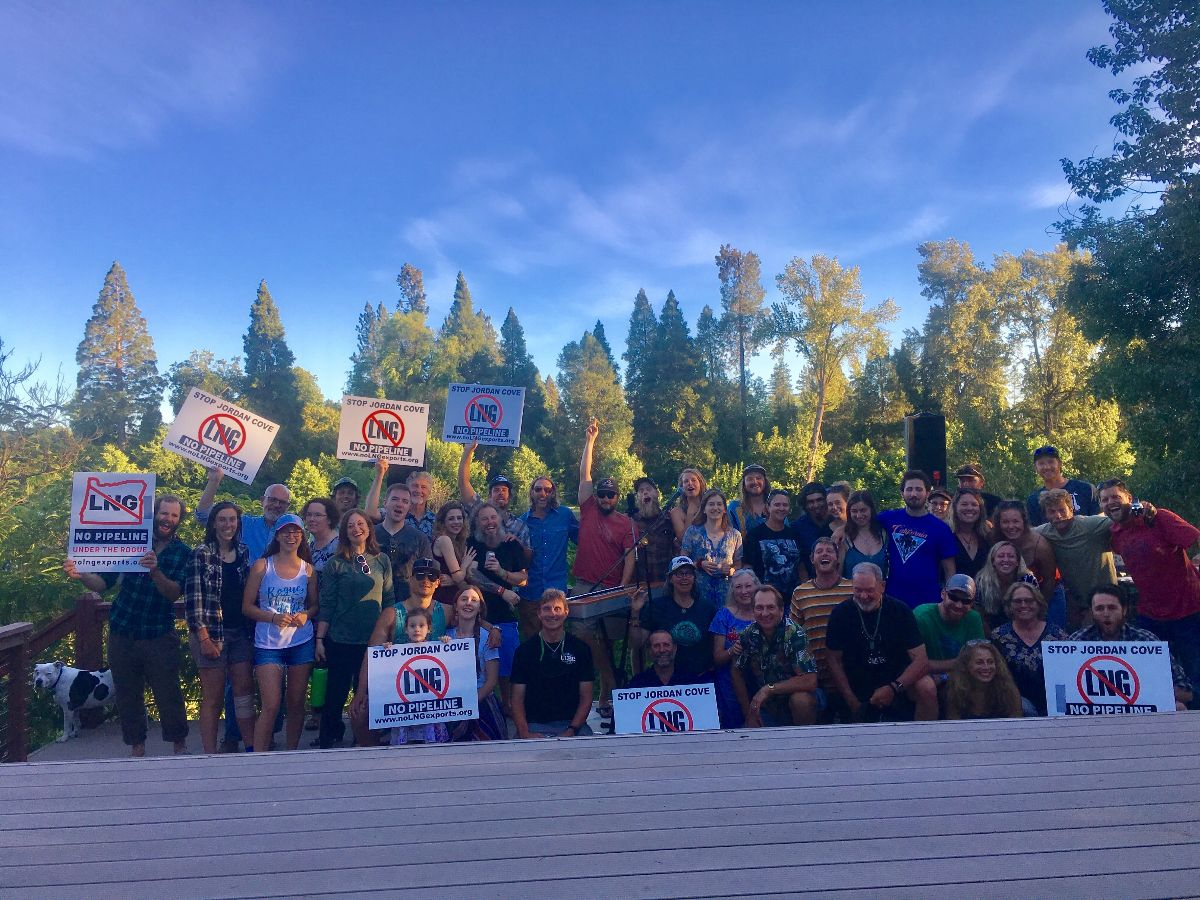 A house concert in Grants Pass to support  Rogue Climate  and spread the word to fight the hugely destructive proposed  Jordan Cove LNG pipeline project .