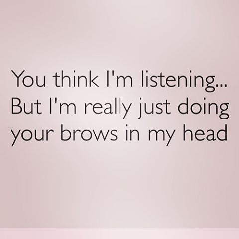 I do this all the time!!!! I can't help myself!  Lol #eyebrows #esthetics #brow