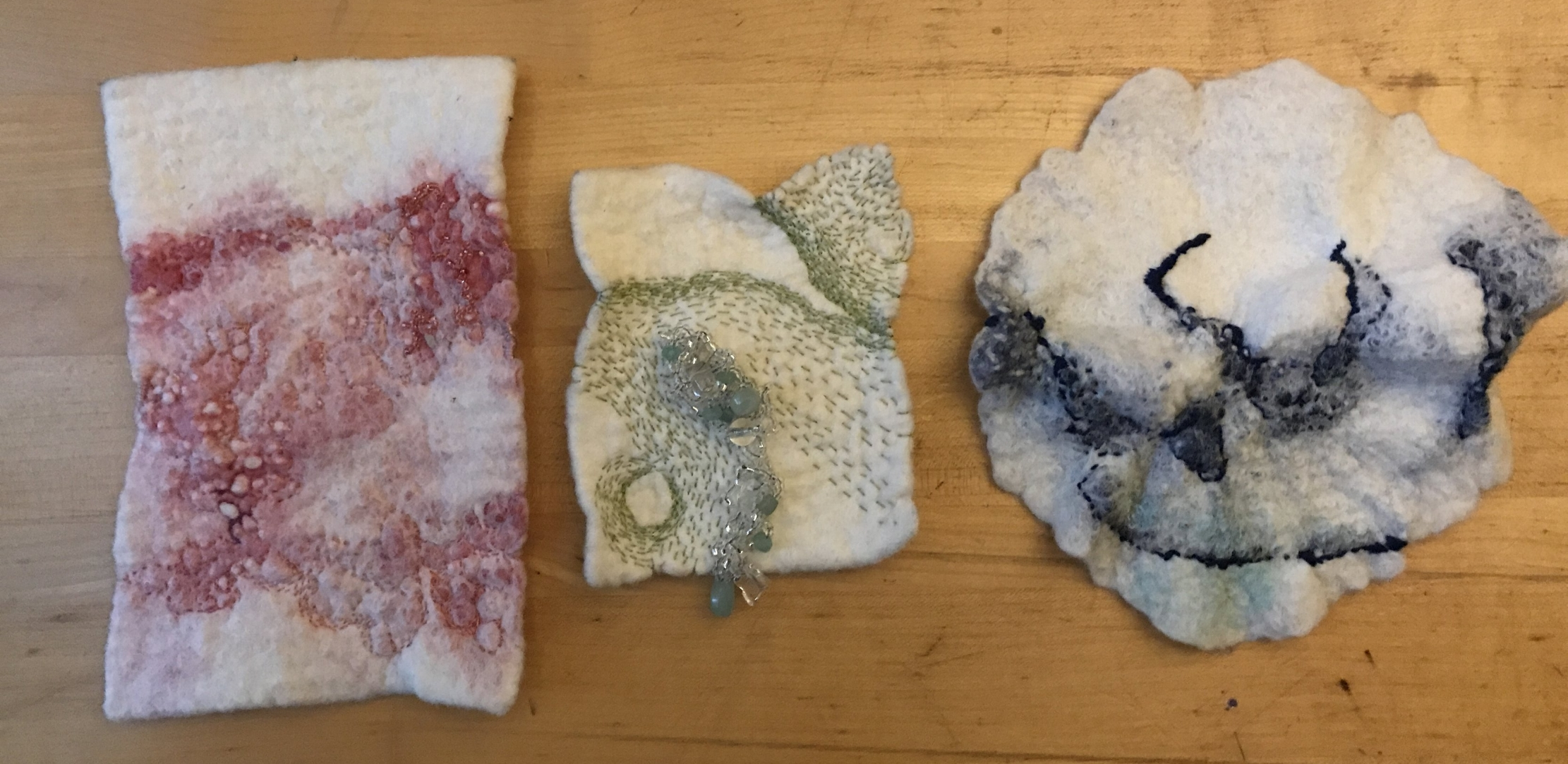 the felt series in progress...