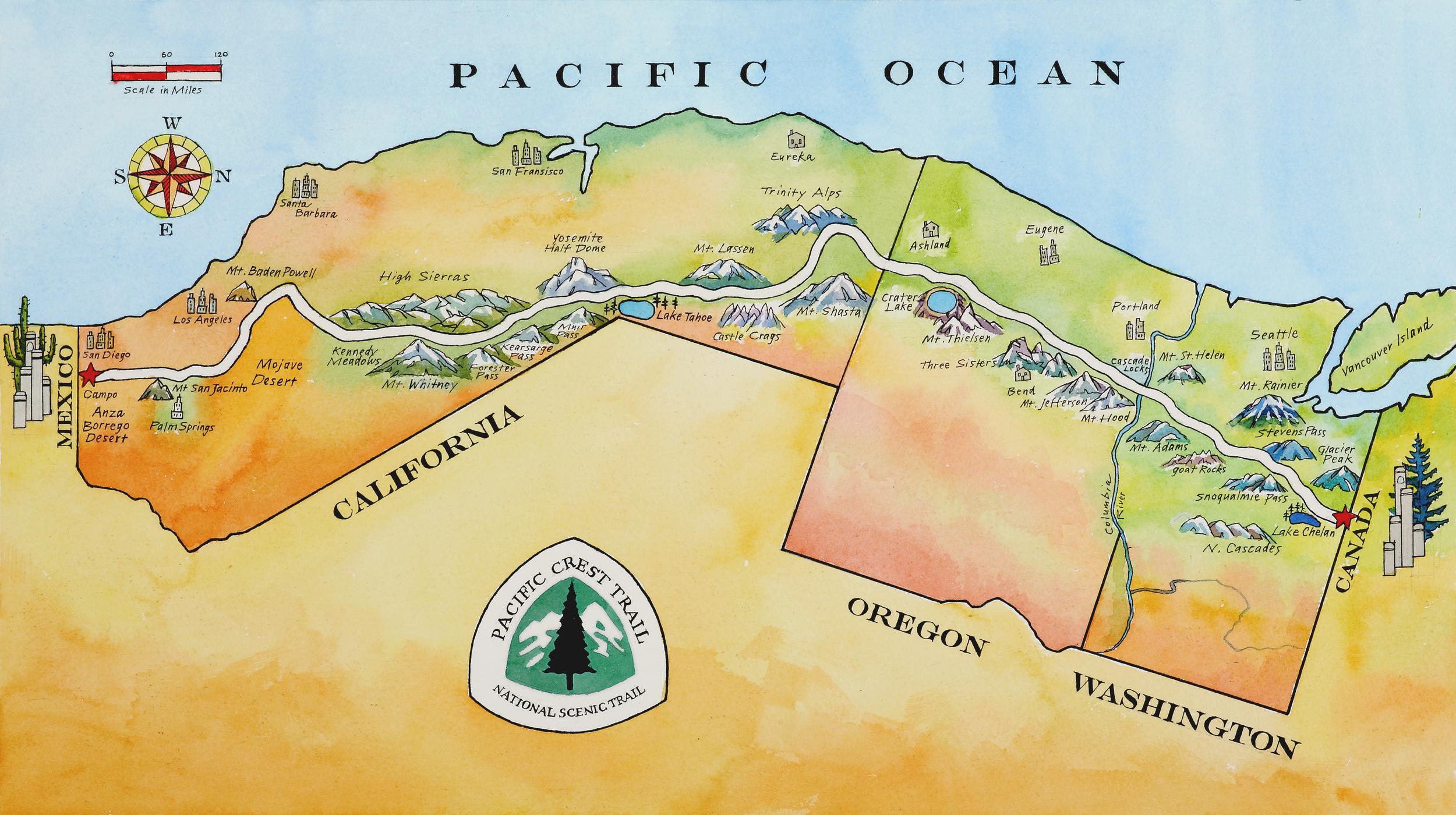 Map by Artist Susan Abbott
