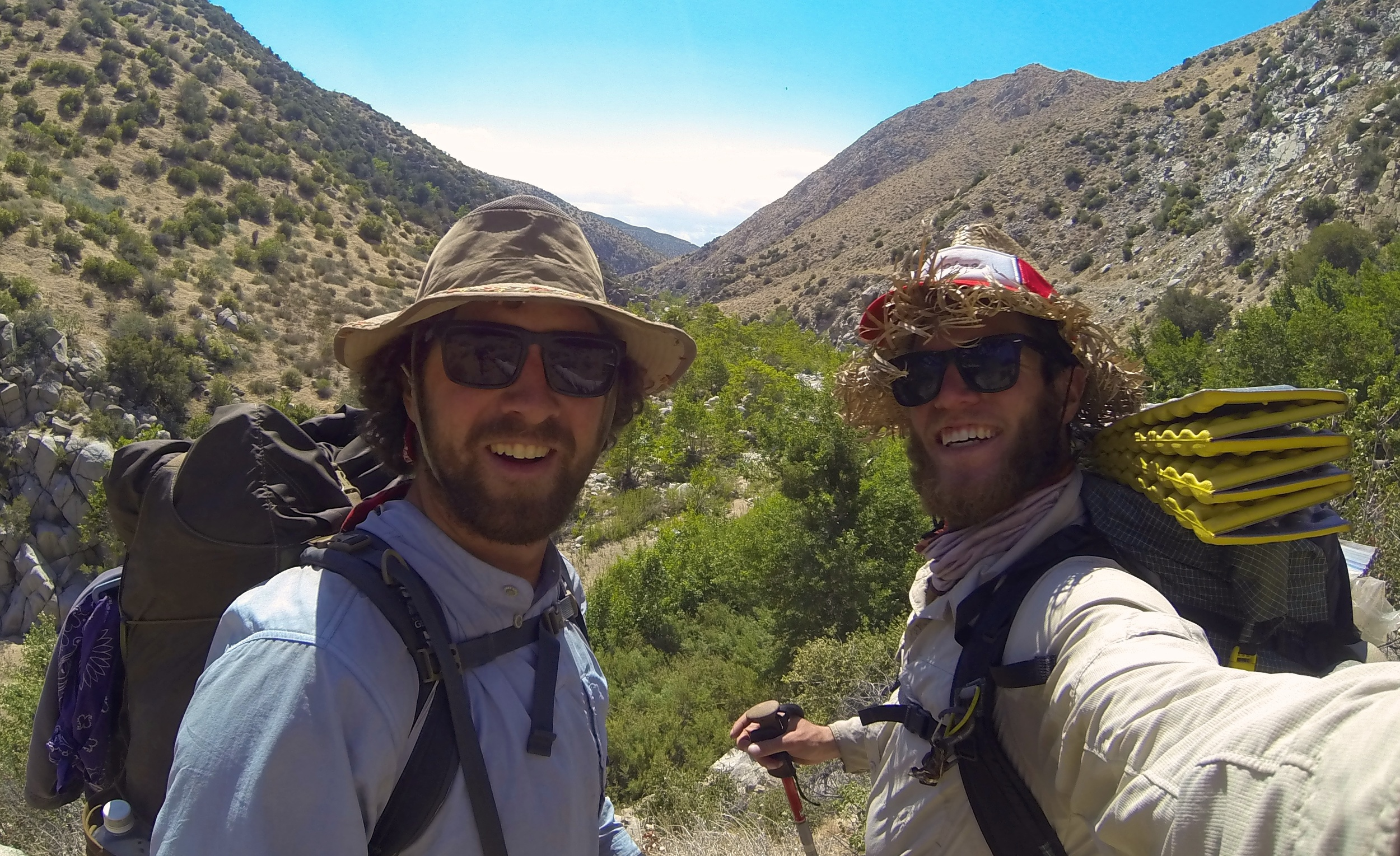 Colin and Casey in Southern California on the Pacific Crest Trail