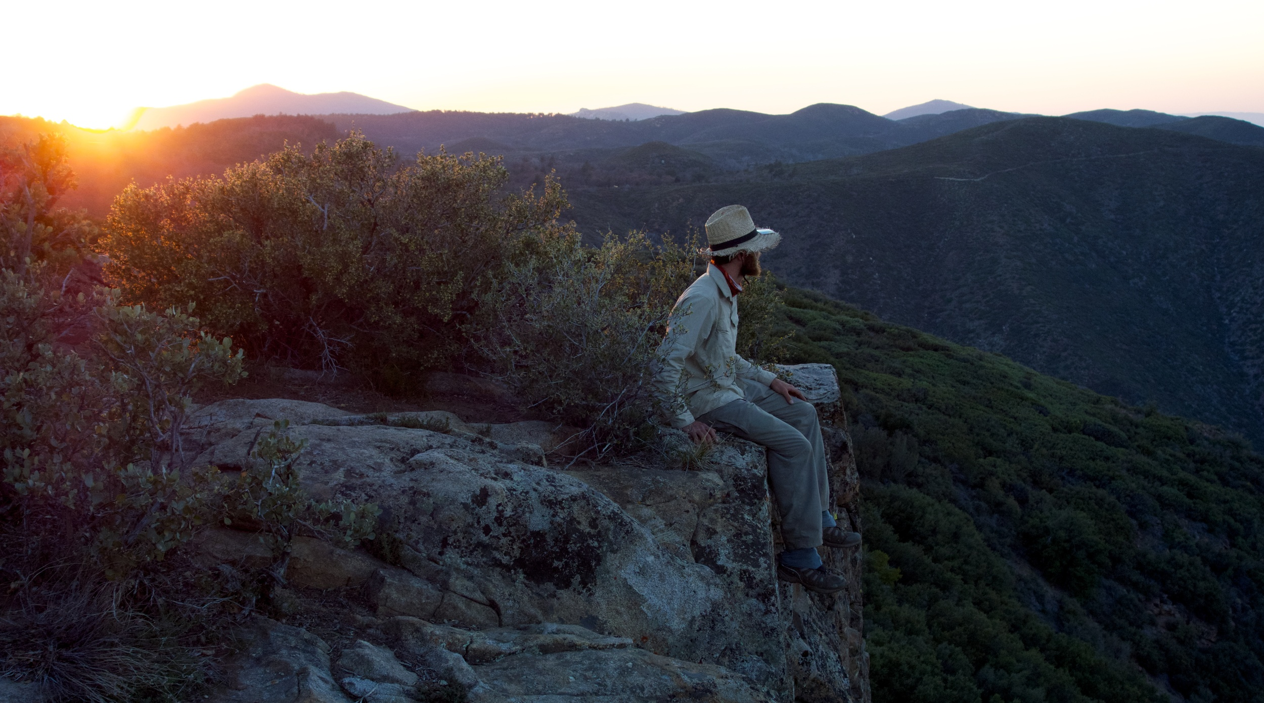Sunset in the Laguna Mountains