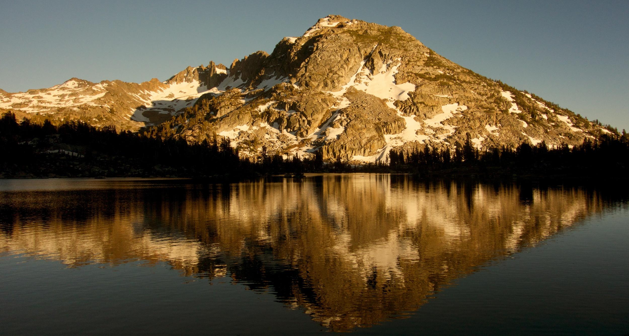 Sierra Lake at Sunset