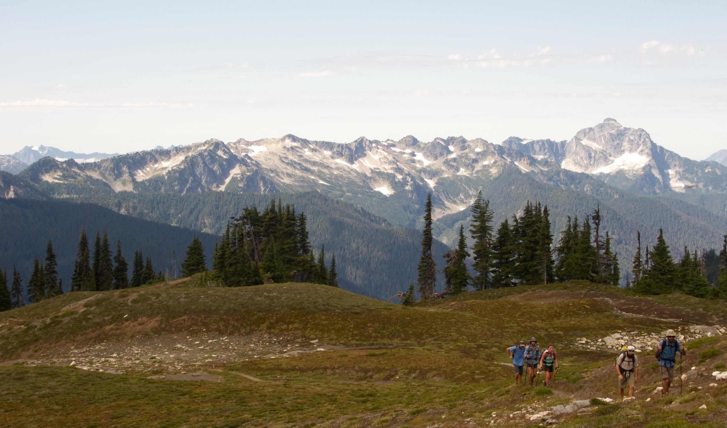 Thru-hikers Near Glacier Peak