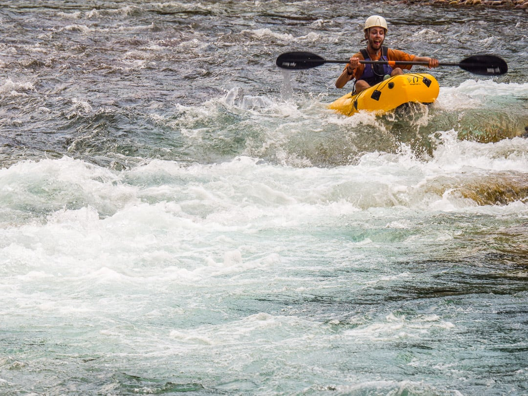 We ended up floating this rapid many times because it was so much fun - Photo: Luke Kantola