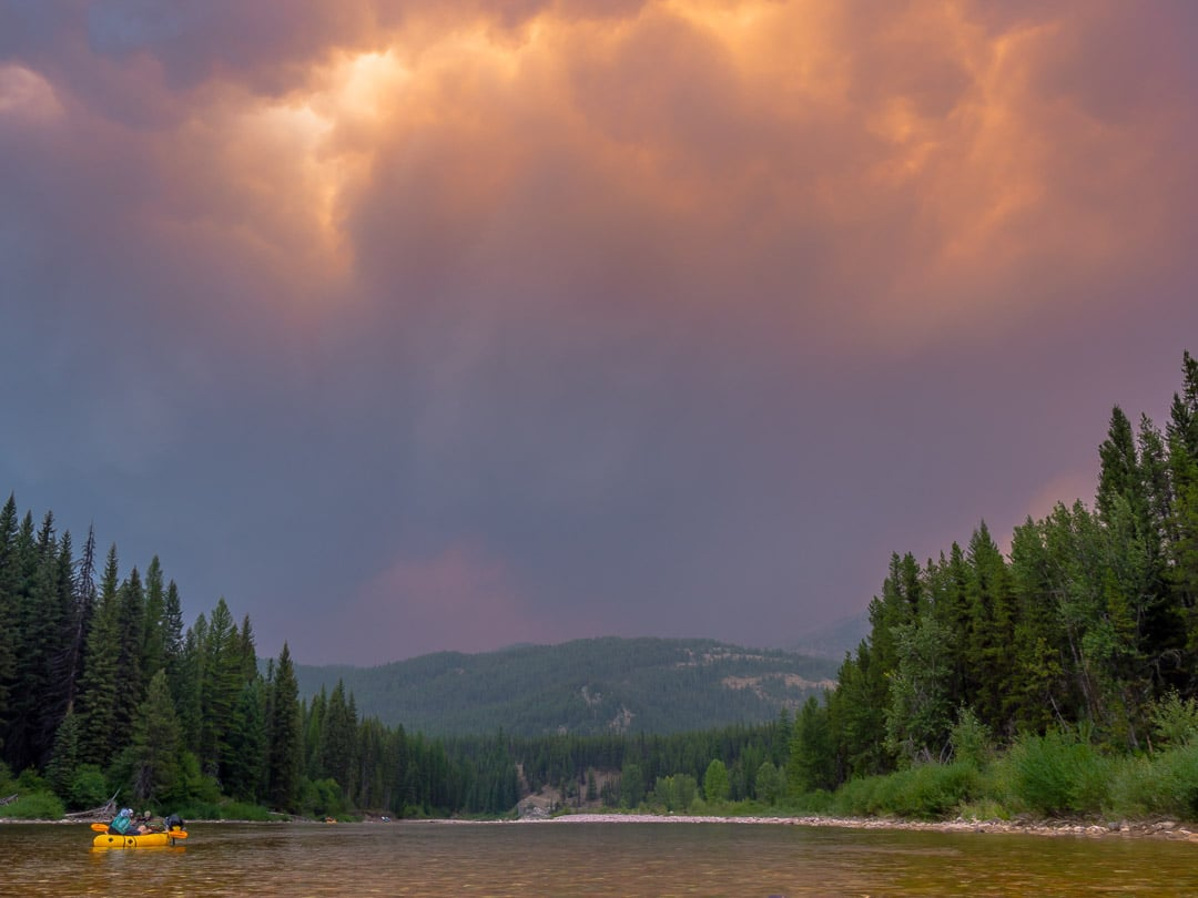The smoke billowed upward and filled the sky with orange and purple. Beautiful, yet alarming and off-putting - Photo: Colin Arisman