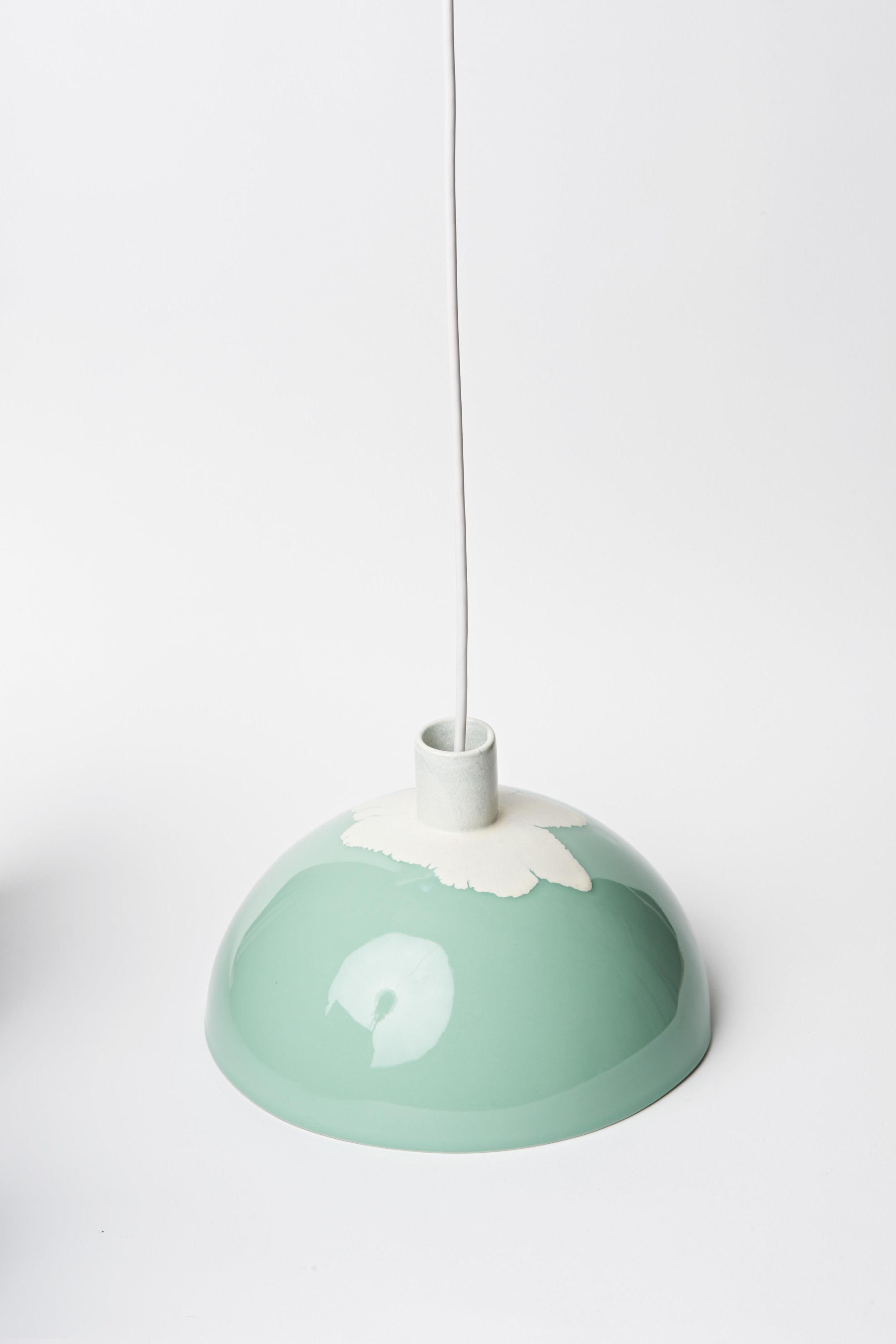 "Dome Light - Ø11""x 8""H Turquoise"