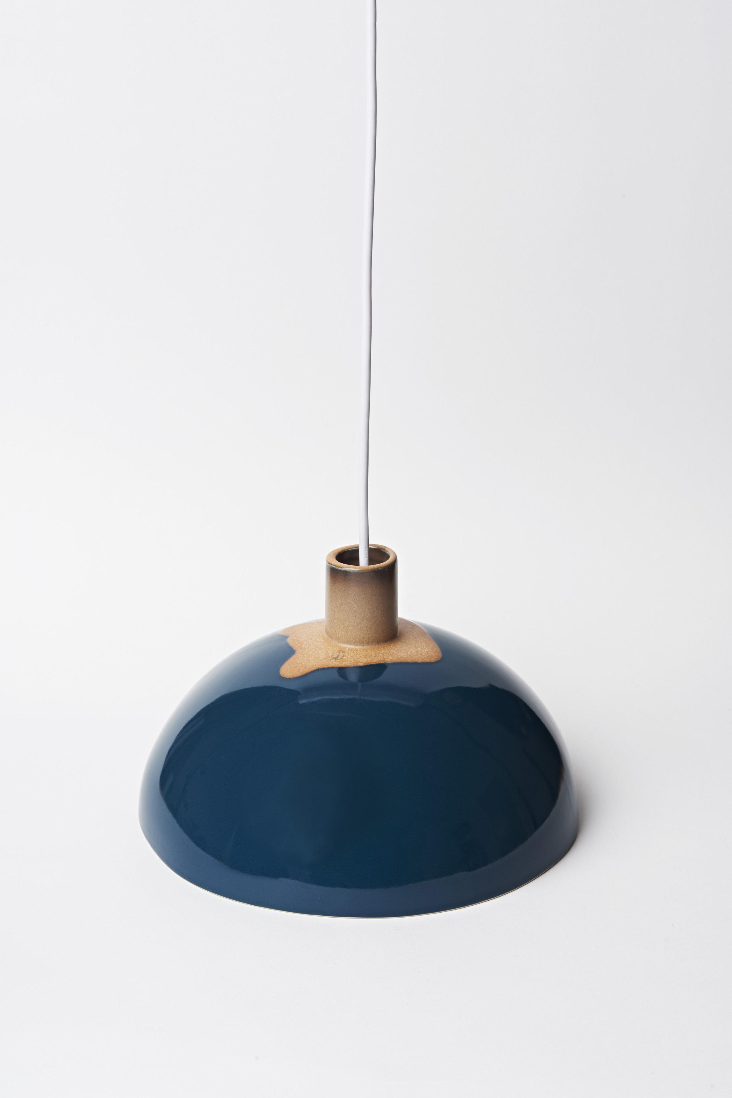 "Dome Light - Ø11""x 8""H Teal Blue"