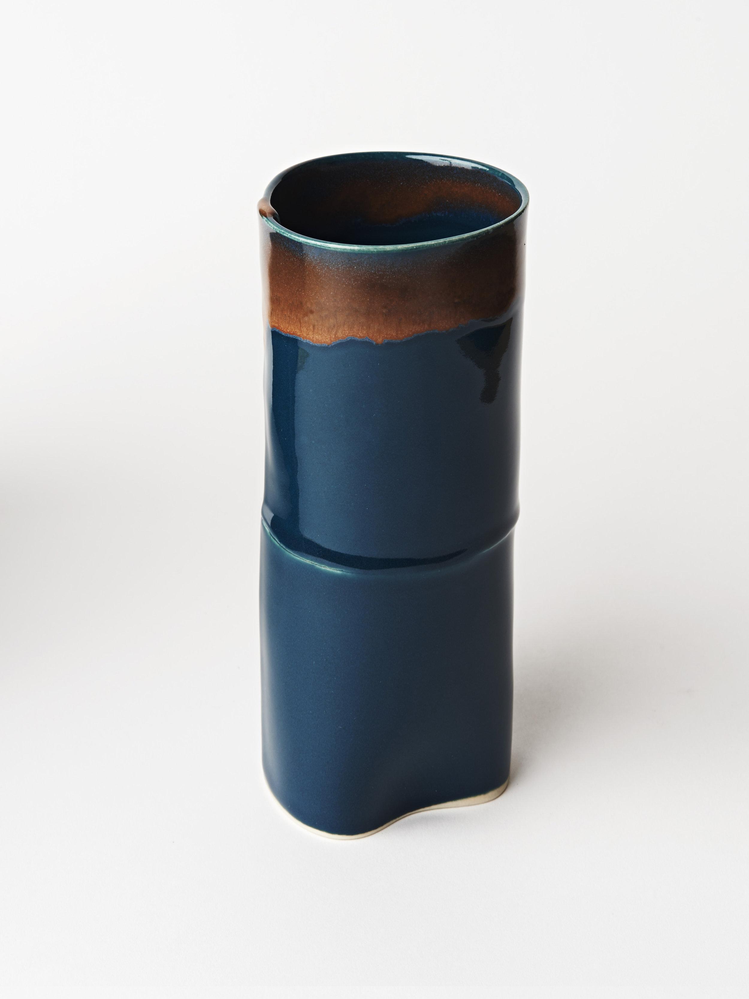 Tall Vase - Teal Blue