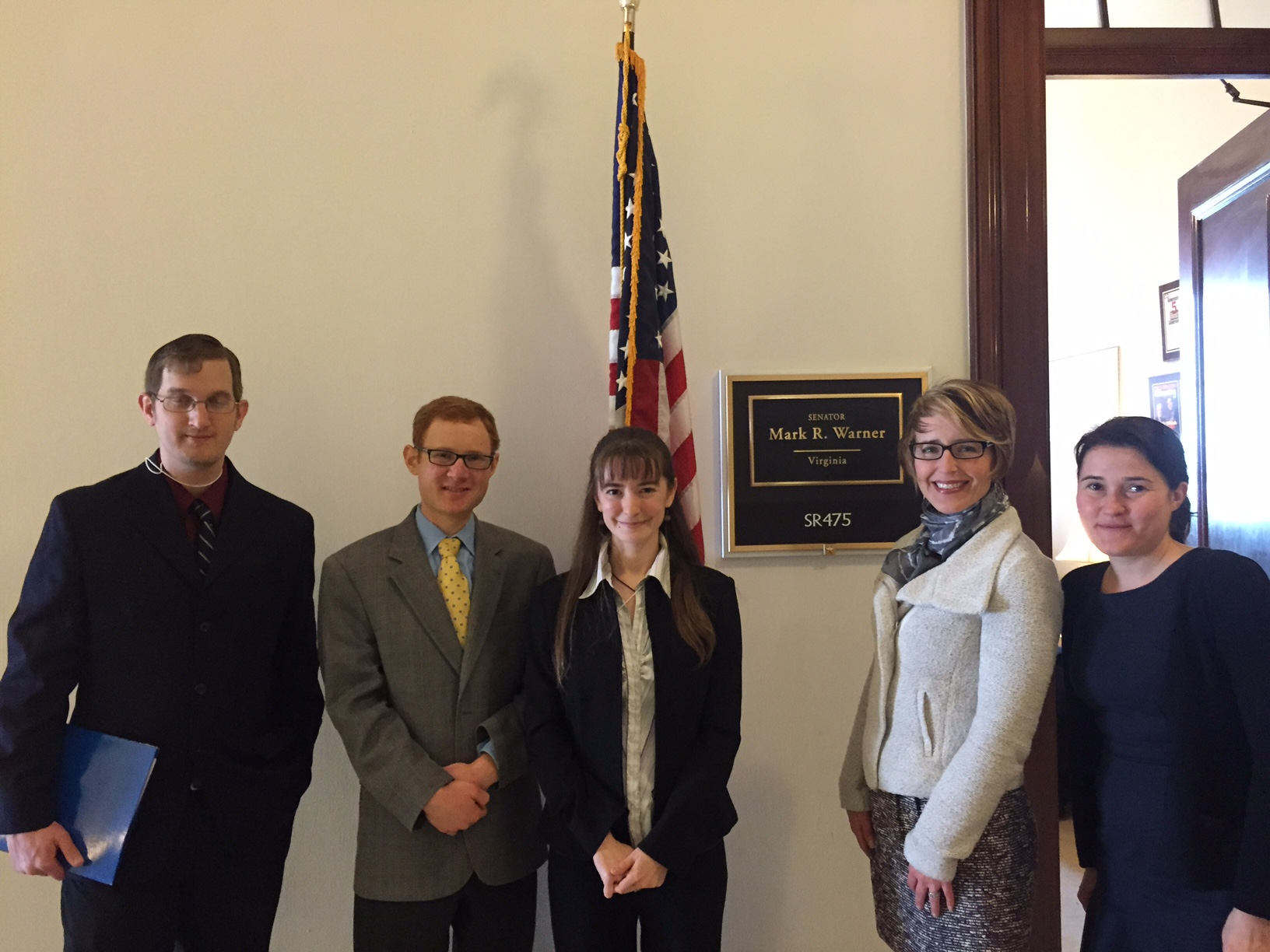 Fellows and AAI representatives with Mr. Charlie Arnowitz, assistant to Senator Warner.