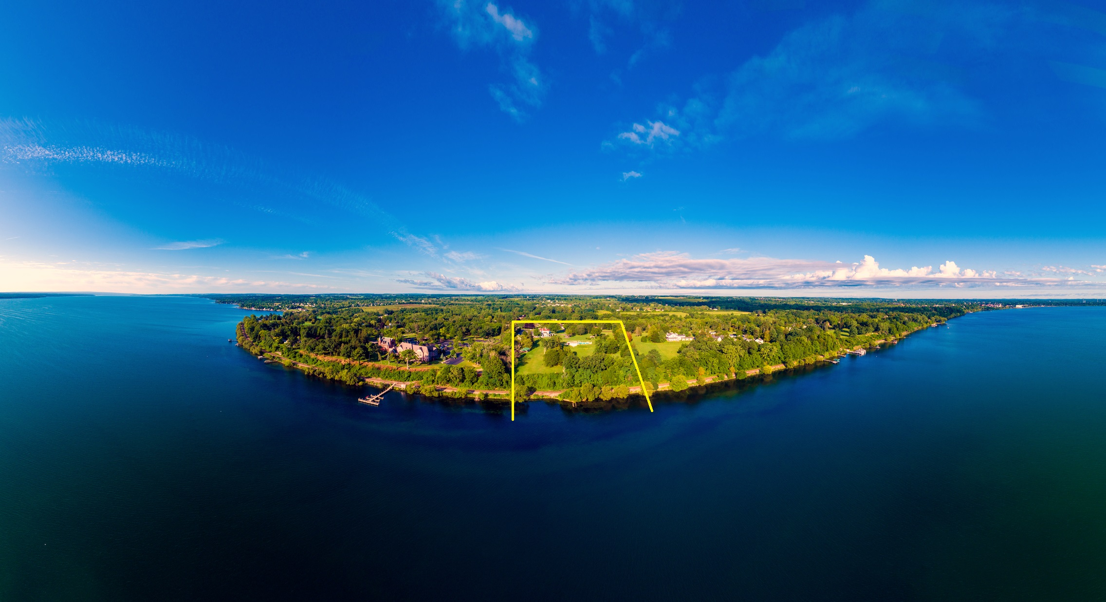 A sprawling 12.9 acres on the West side of Seneca Lake with 503 feet of lakeshore could now be yours!