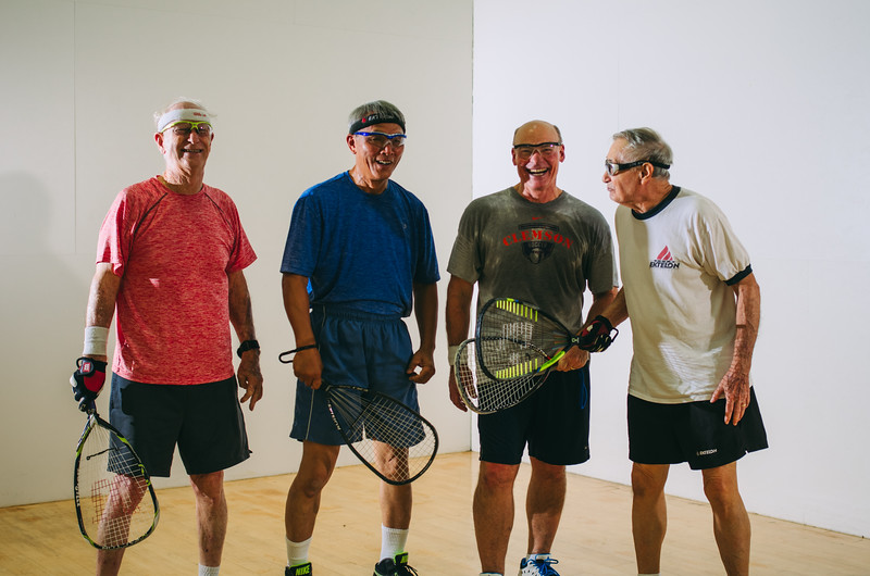 RACQUETBALL   Reserve the court and challenge your friends for a fast-paced game that will have you hooked in no time!