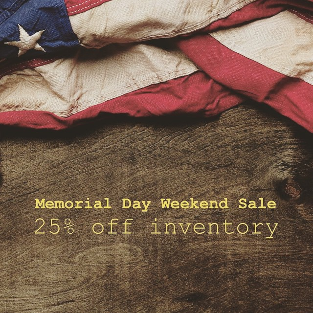 25% off #barbour #woolrich #jeremiah #redwing + more this #memorialday weekend.
