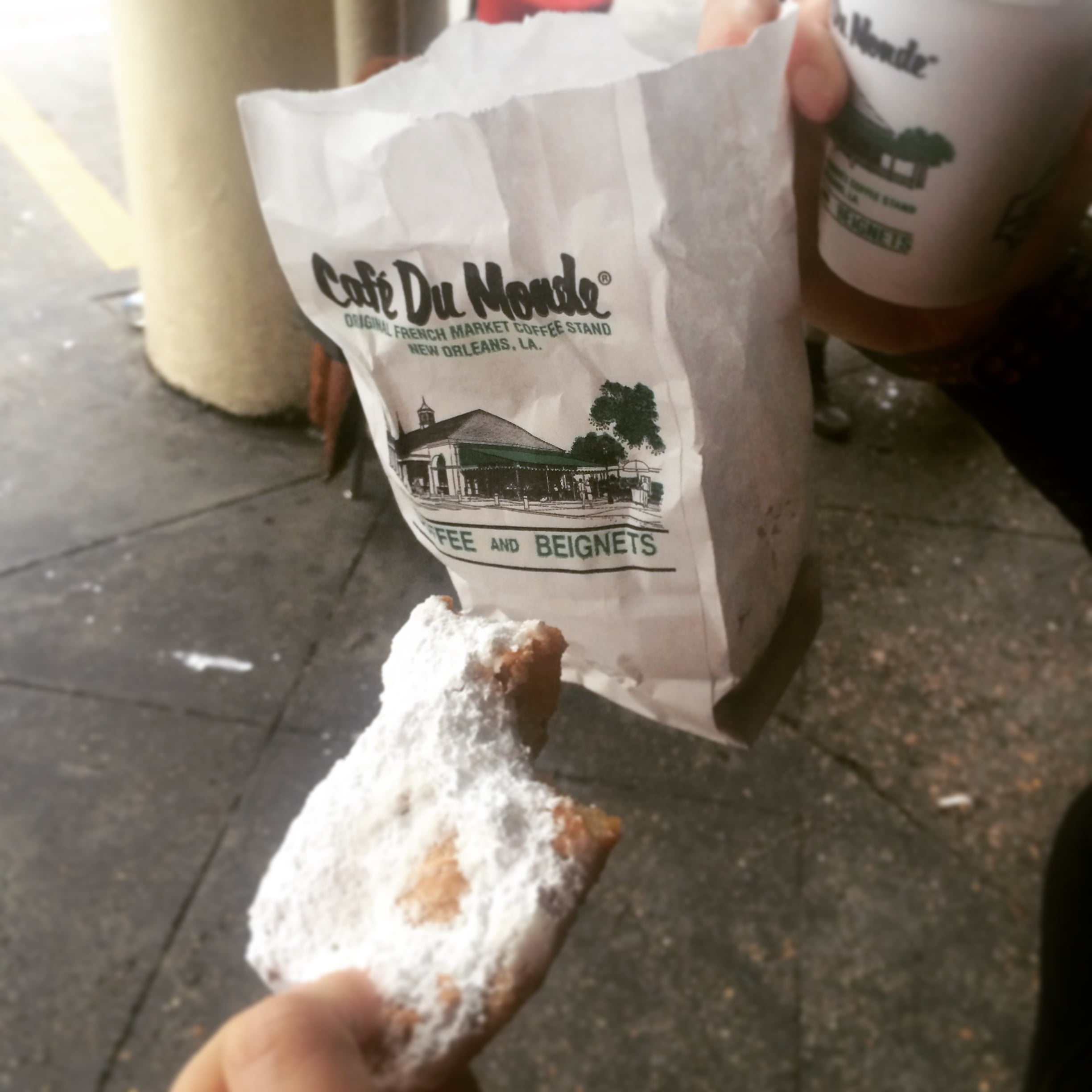 Can't go to NOLA without a visit to Cafe Du Monde. Just not possible.
