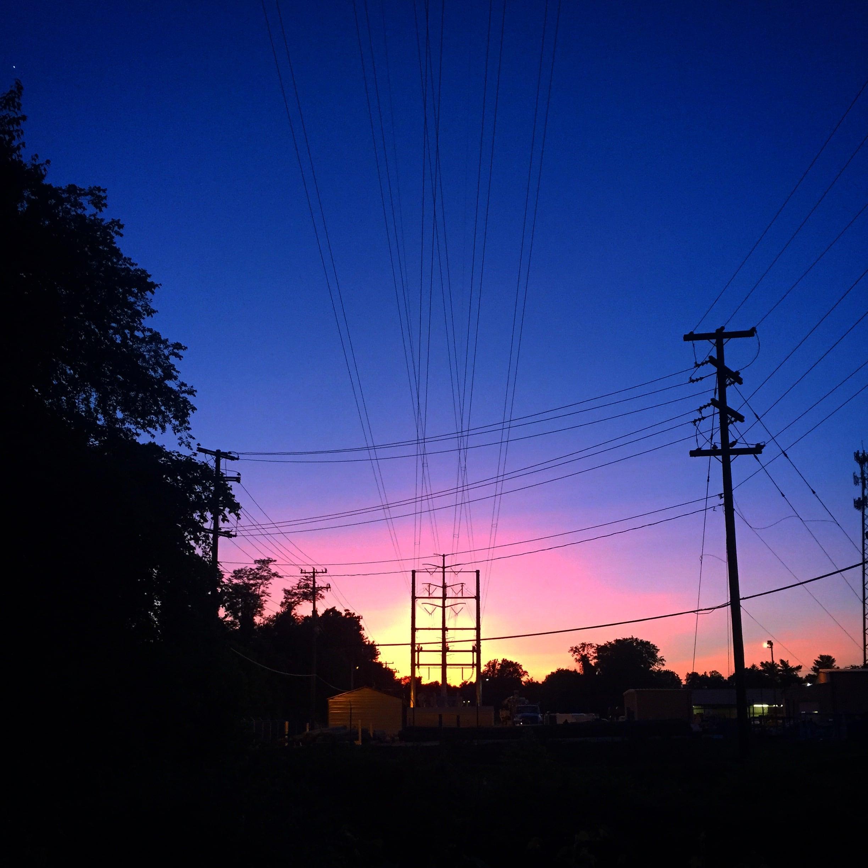 Just a sunset from a backyard trail run.