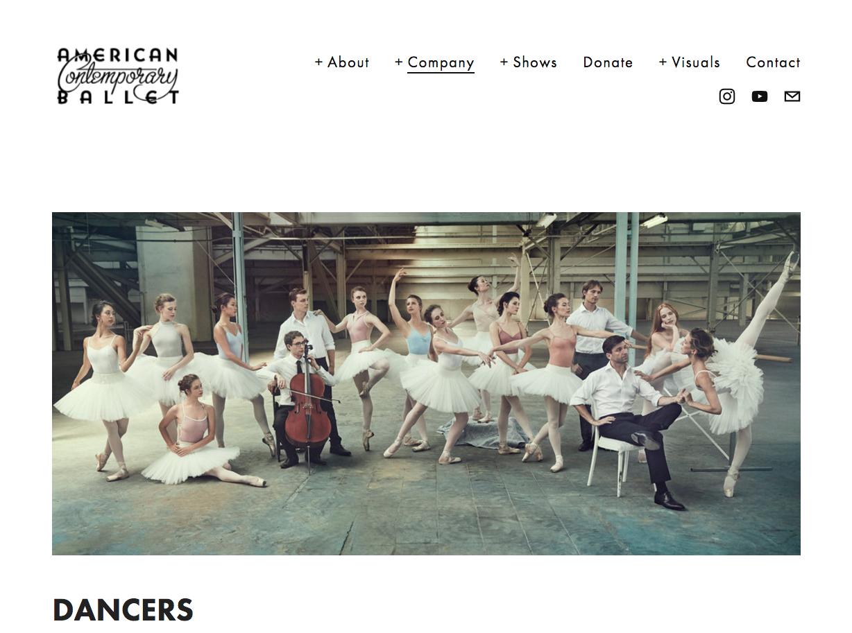 American Contemporary Ballet. Photographer Will Davidson