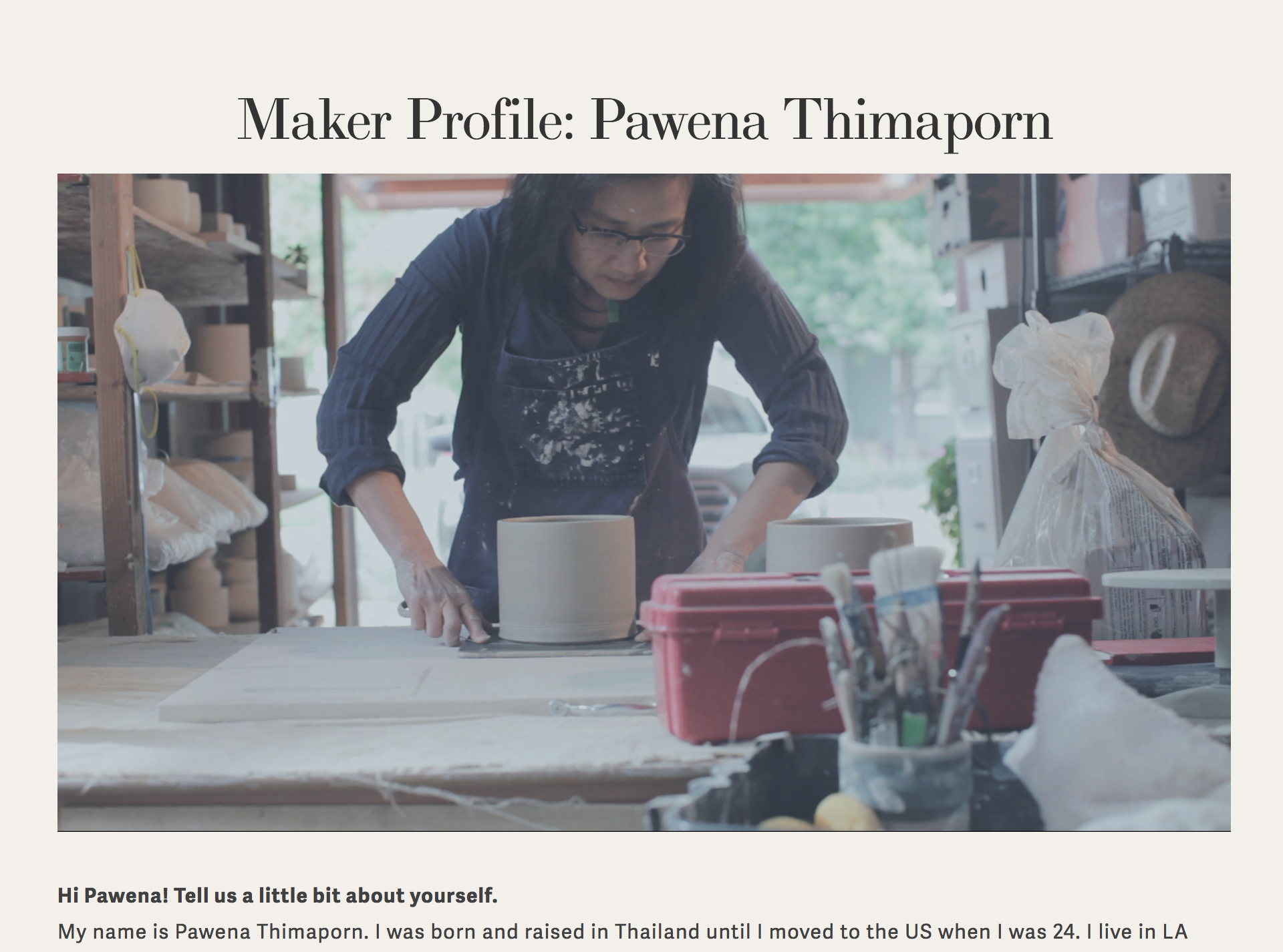 So proud to be part of these creative women around the world. Thank you  @theglossaryco  for including me in one of your interview. Read more about me, Pawena Studio and other creative ladies  here .