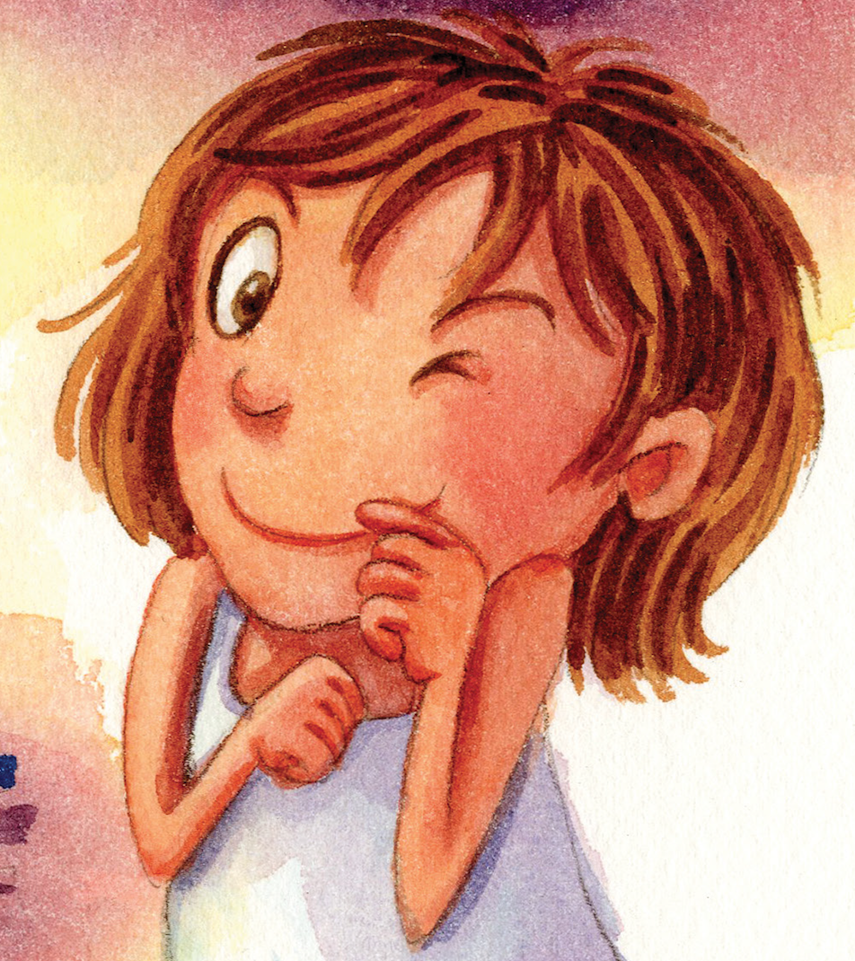 Sophie is the Reader's friend. She loves mysteries and her ears wiggle when she gets an idea. Her favourite words are 'why?' and 'what if?