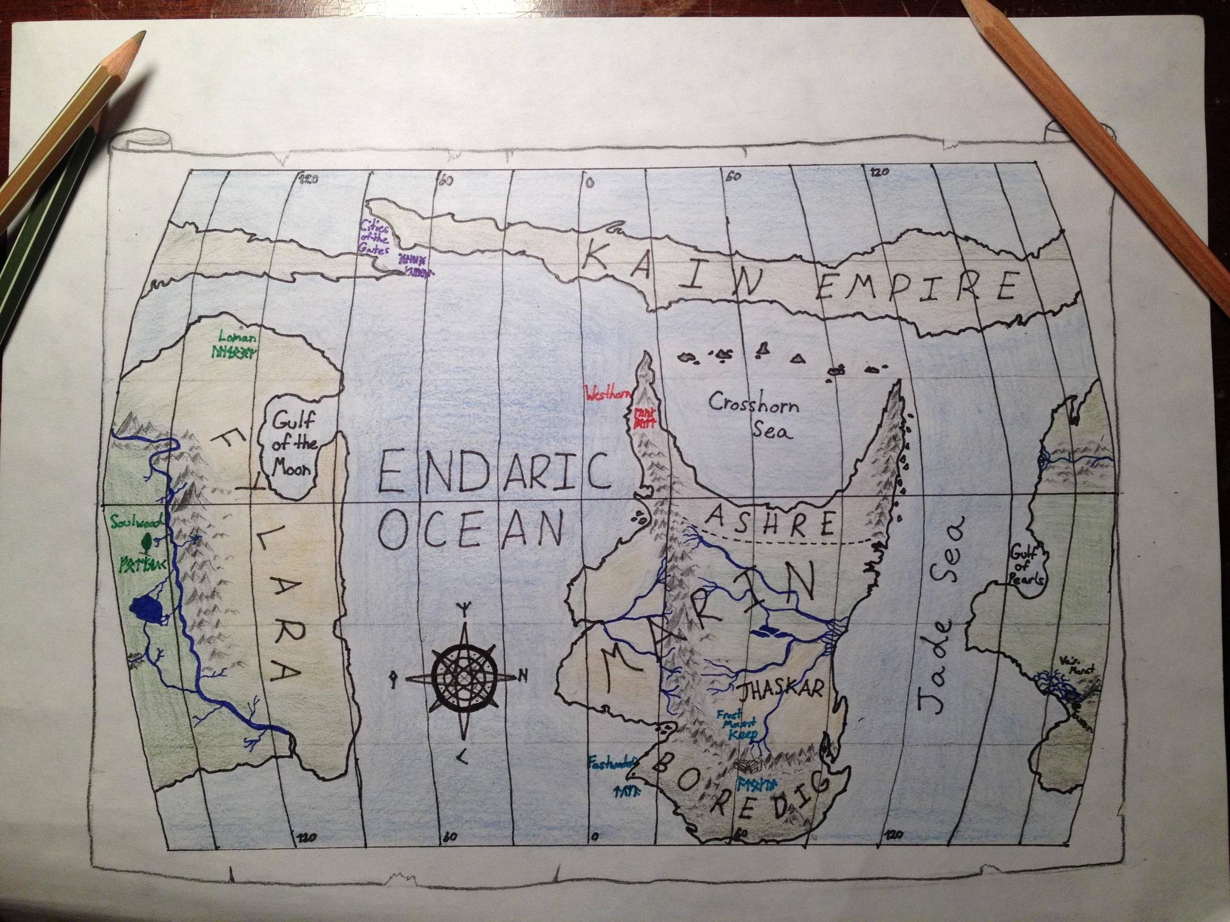 Maronyr Map by Patrick von Scalyskin