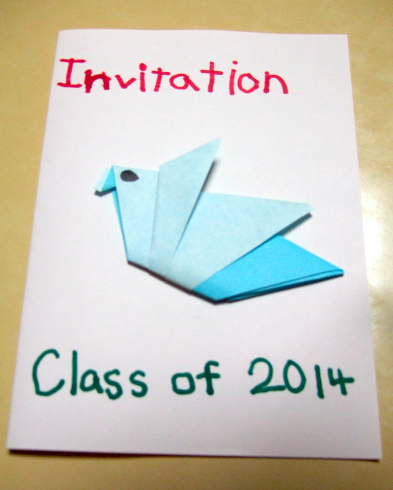 One of last year's handmade invitations.