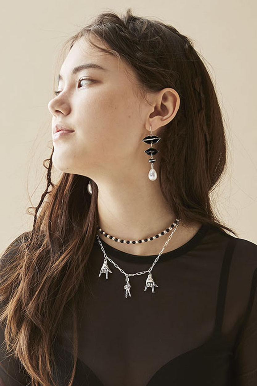 Hickey Earrings, Flashback Choker, Triple Sign Necklace