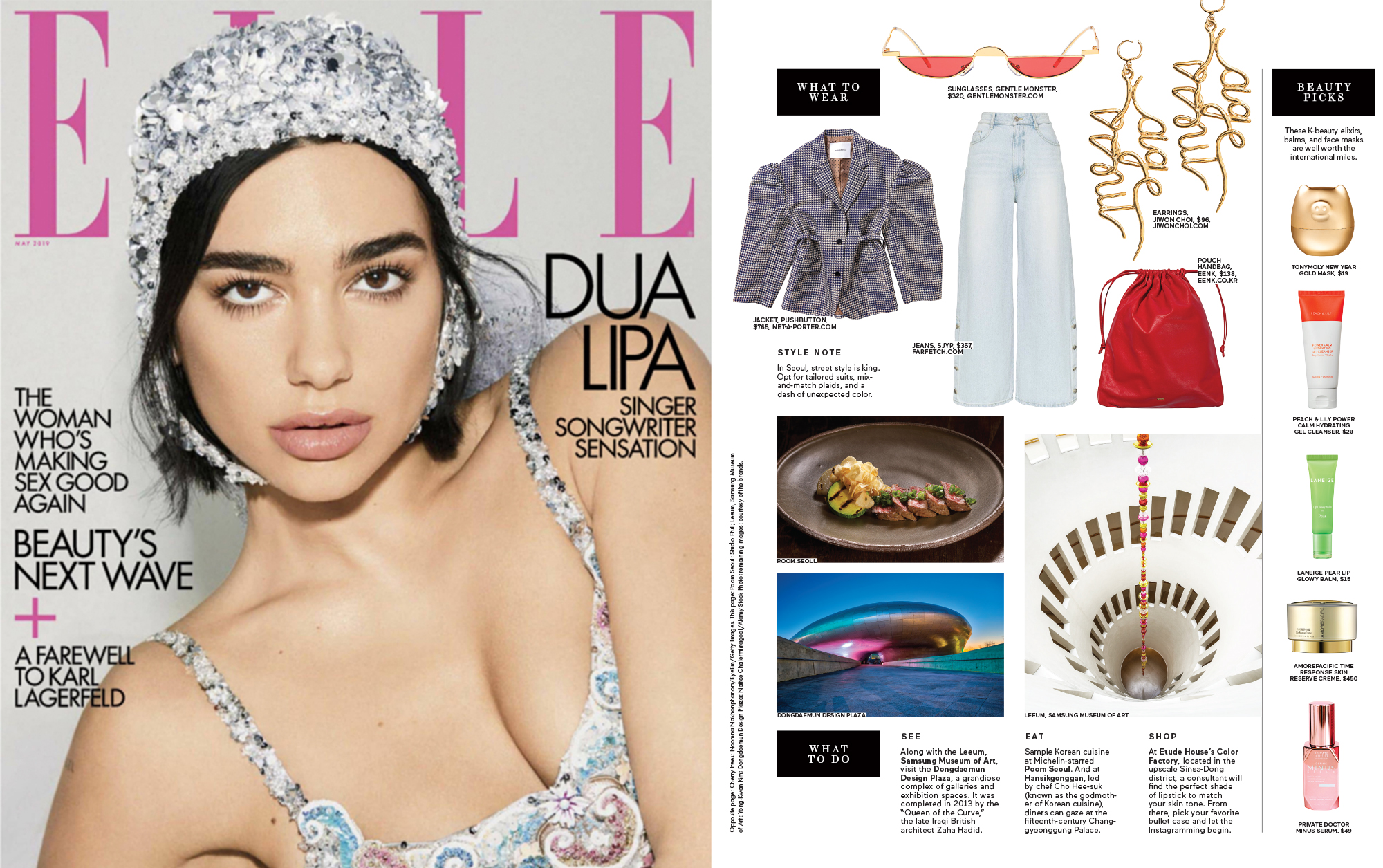 JIWON CHOI JEWELRY ON ELLE MAGAZINE US MAY 2019 ISSUE