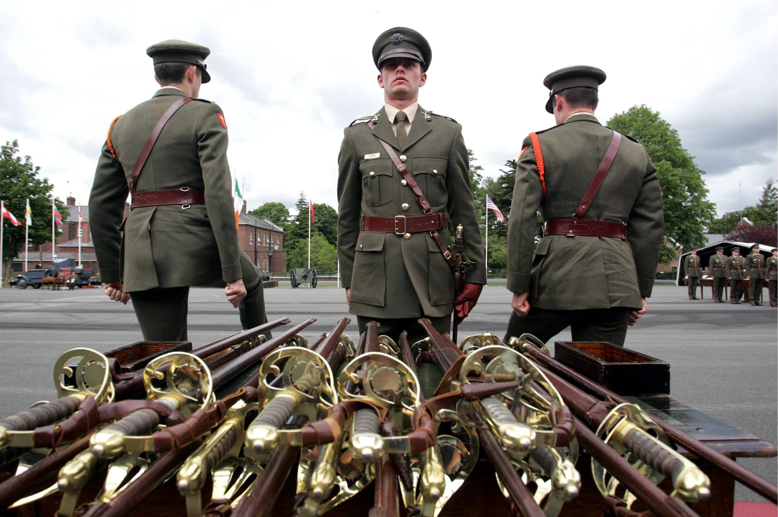 Army passing out parade in the Curragh Camp