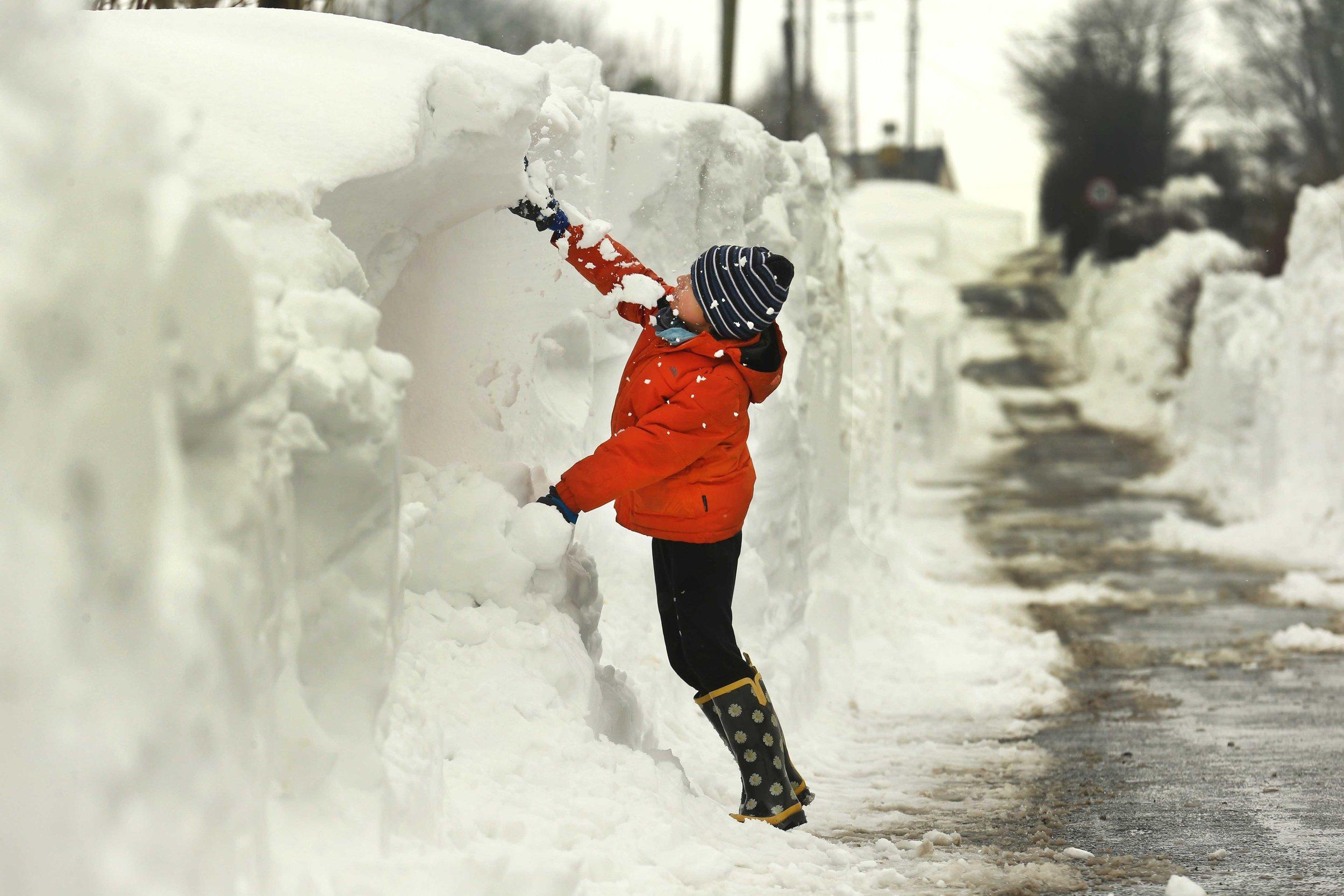 Deep snow in Carlow