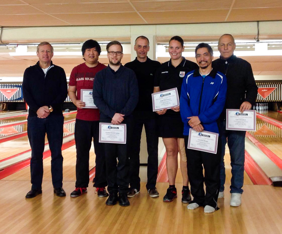 Our new Level II Coaches are with NBF's Eric Gardner and ETBF Instructor Juha Maja