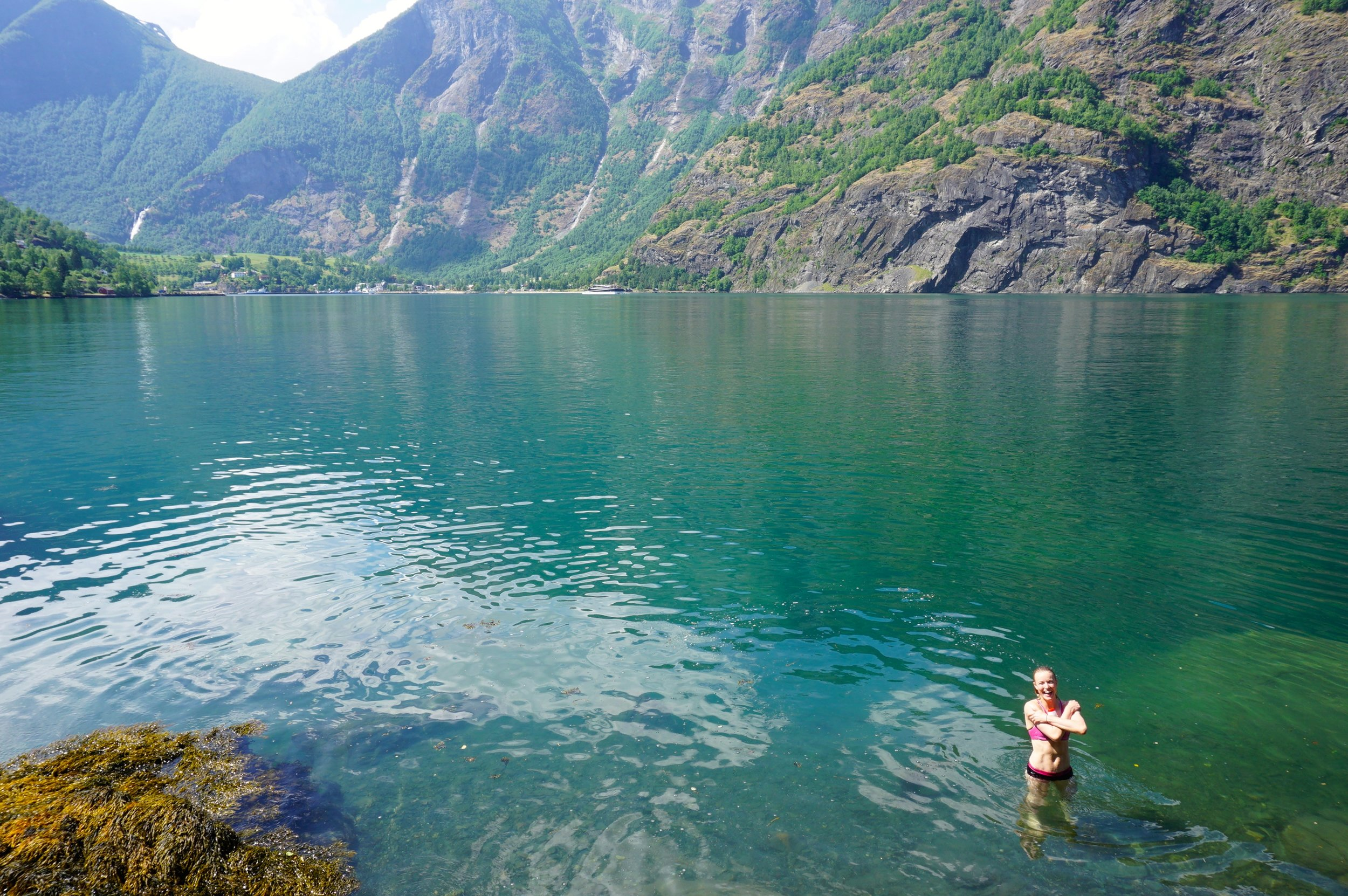 Finding a cute lunch and swim spot near Flam!