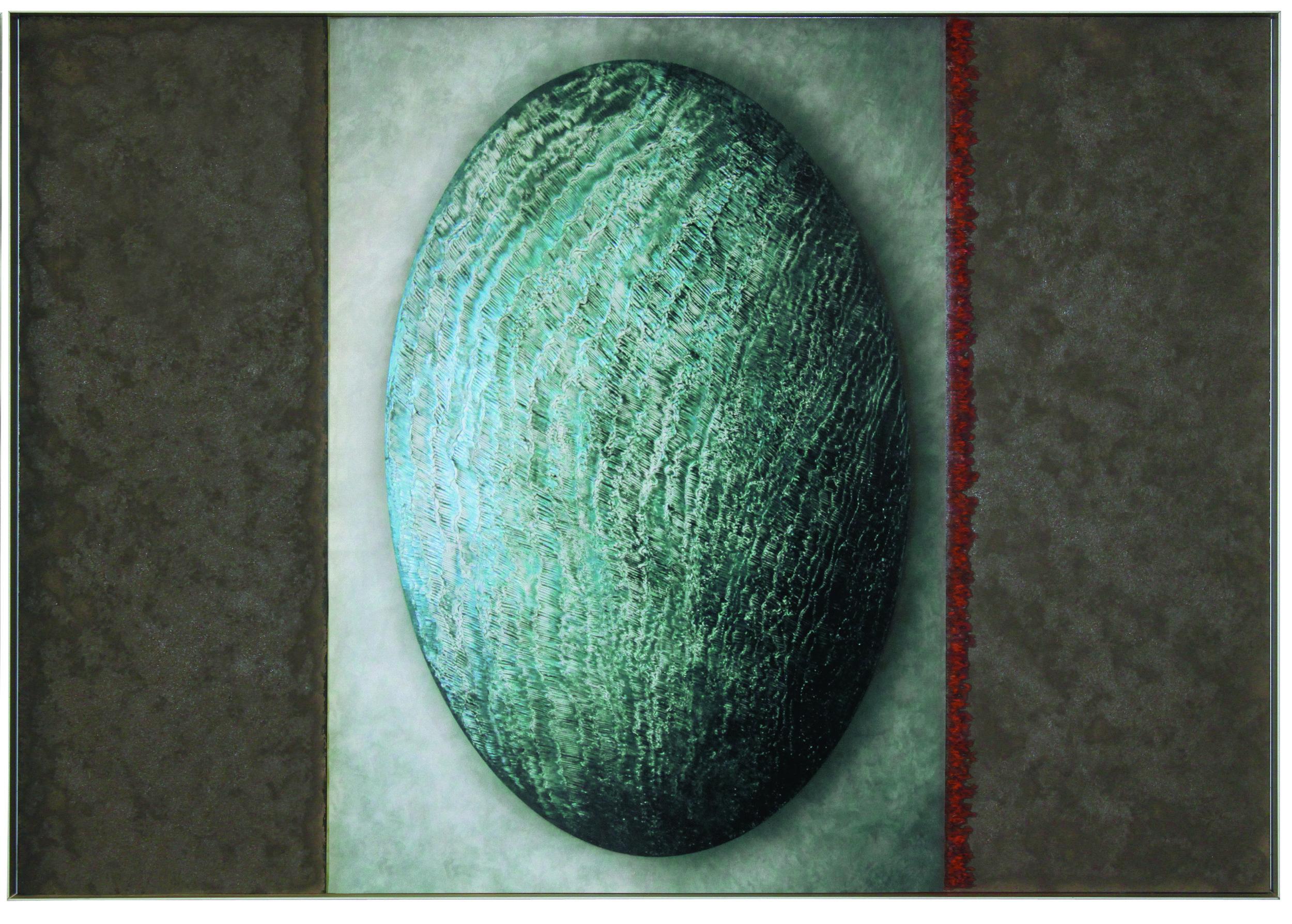 rosaspina  buscarino (1+2) %22Azzurro Eclissi, Verde Eclissi%22 Olio e Fotografia su carta su forex cm 70x200 copia 2.jpg