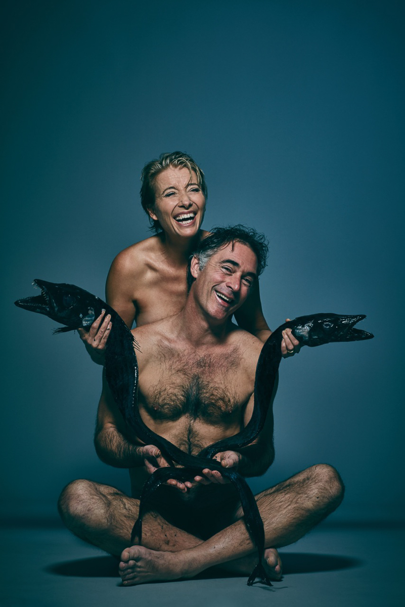 Emma Thompson & her husband Greg Wise  © Jillian Edelstein for Fishlove