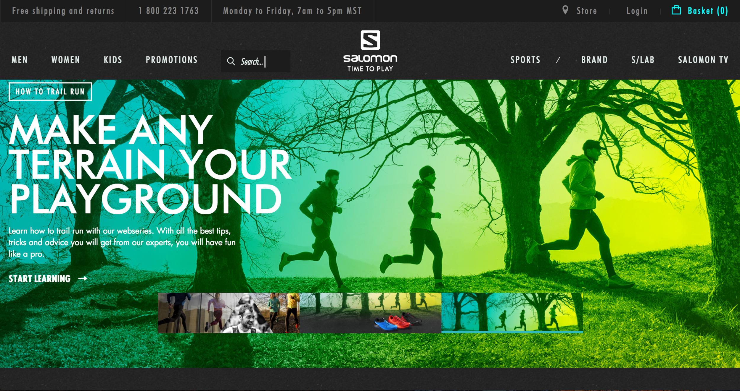 Salomon Web — creative direction meets copy
