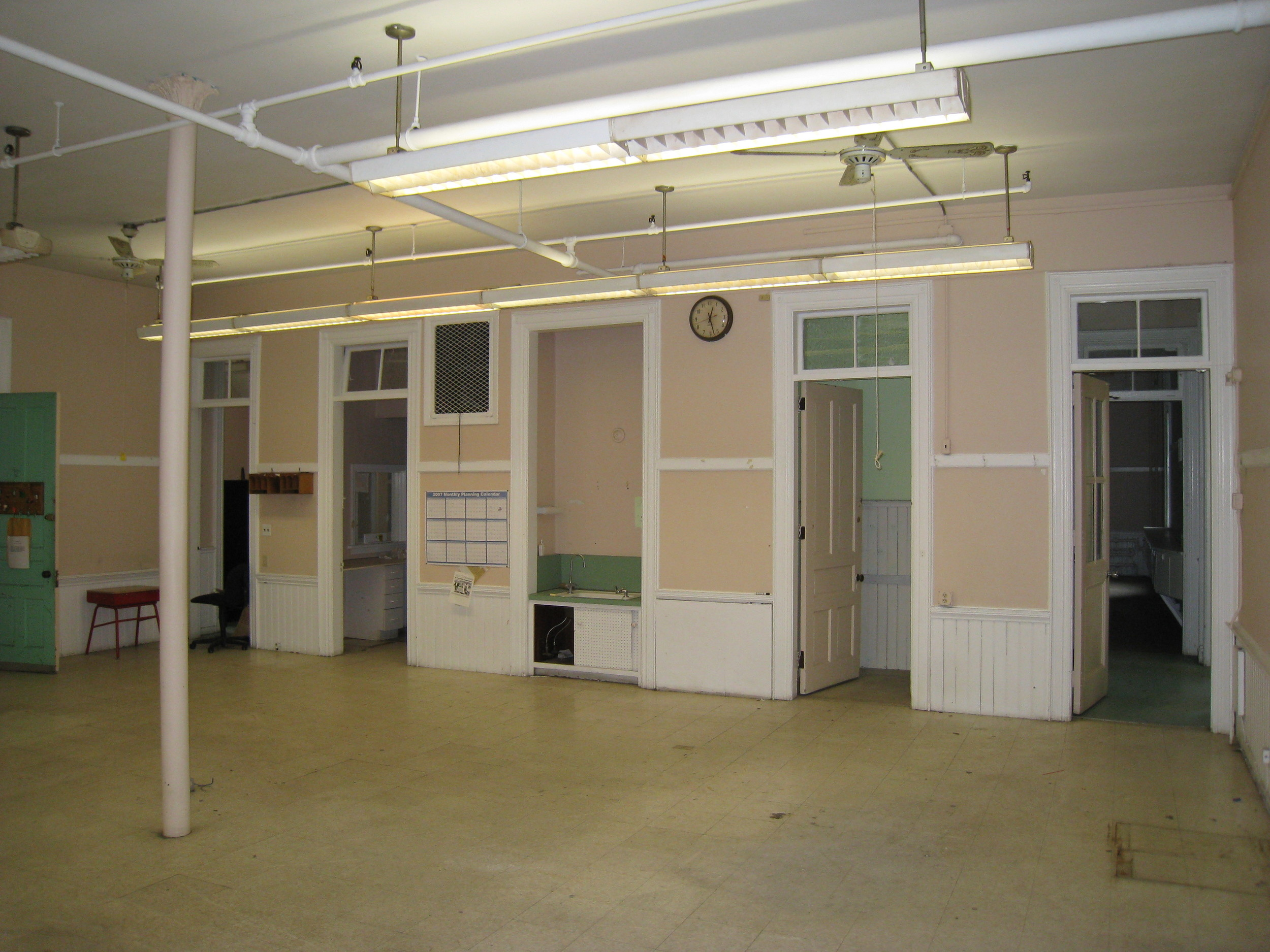 One of four original classrooms in the school. Photo credit: Providence Revolving Fund