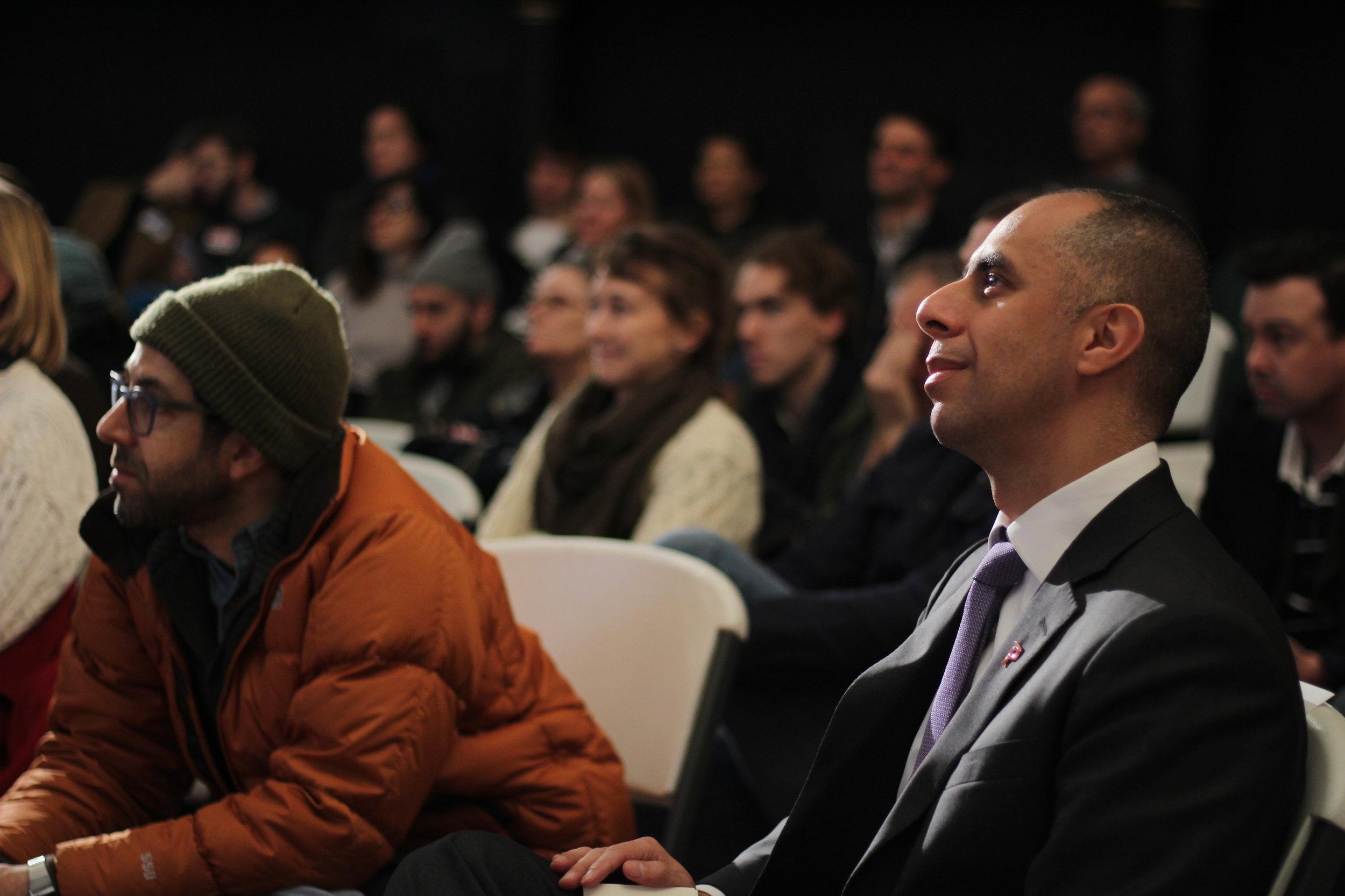Mayor Jorge Elorza joins the meeting