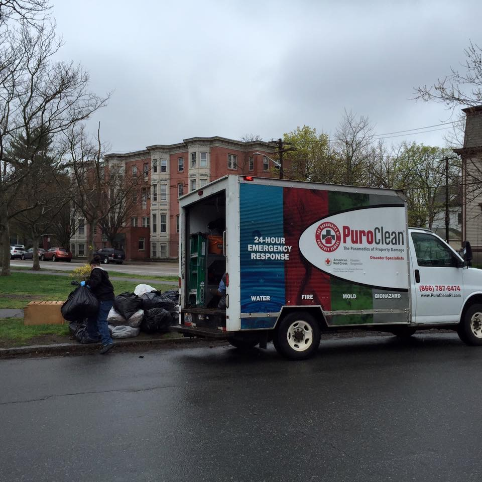 Many thanks to PuroClean for collecting bags at pickup sites Photo credit: Chris Sanford
