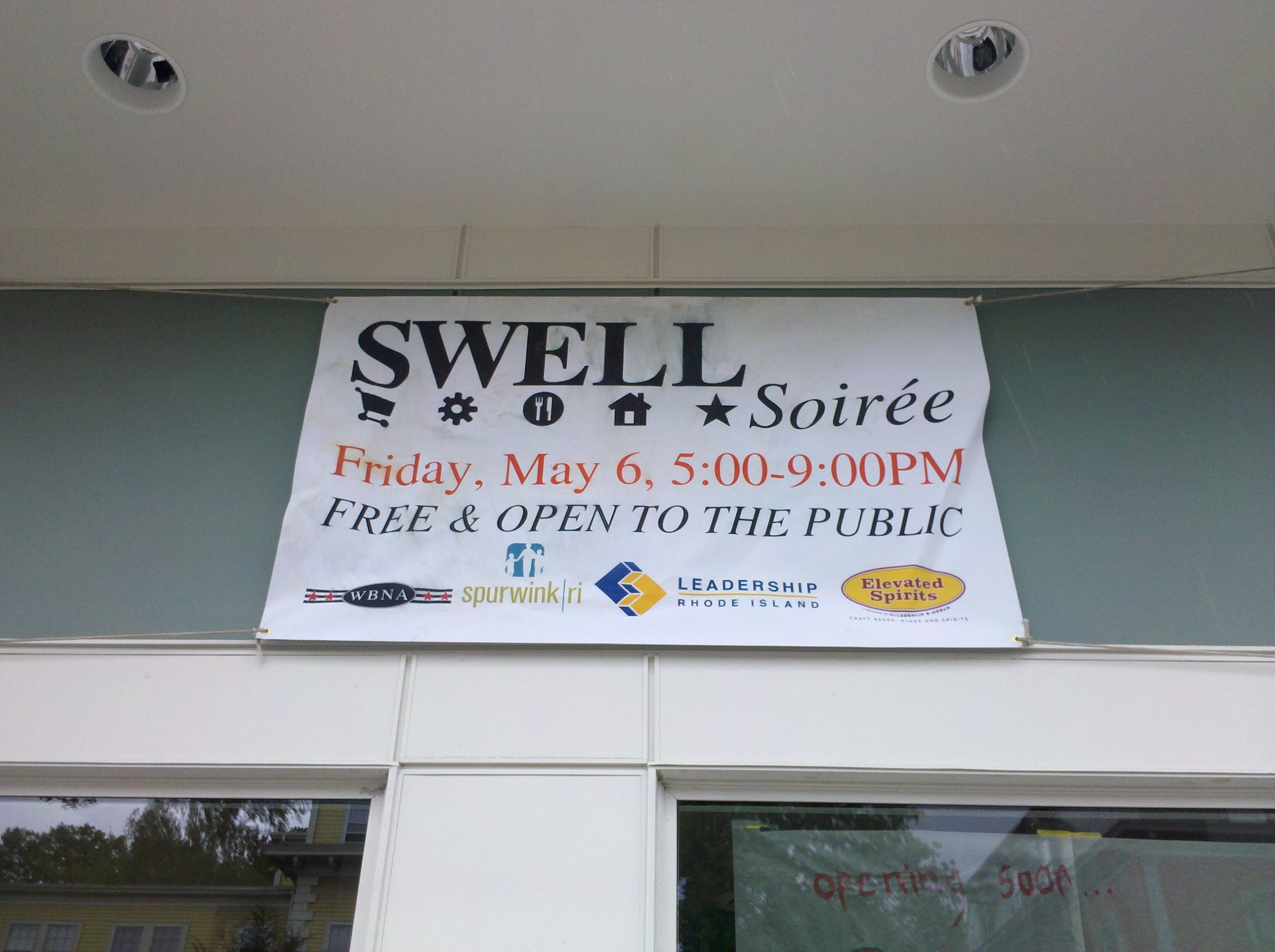 A SWELL (Shop, Work, Eat, Live & Learn locally) Soirée in the new space, May 2011