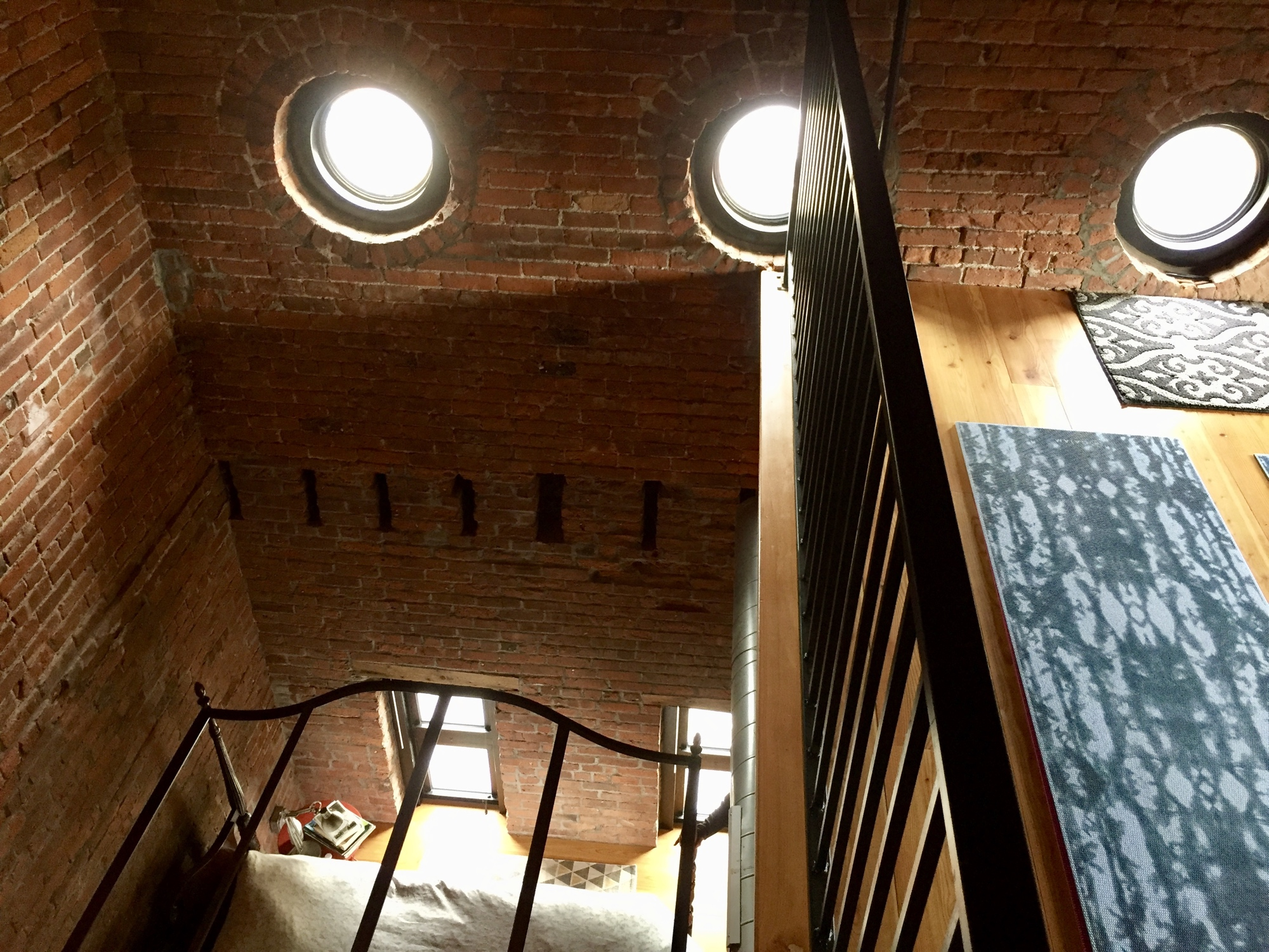 30 foot ceilings and a loft inside the steeple of this former Victorian church building Photo by Barbra Revill