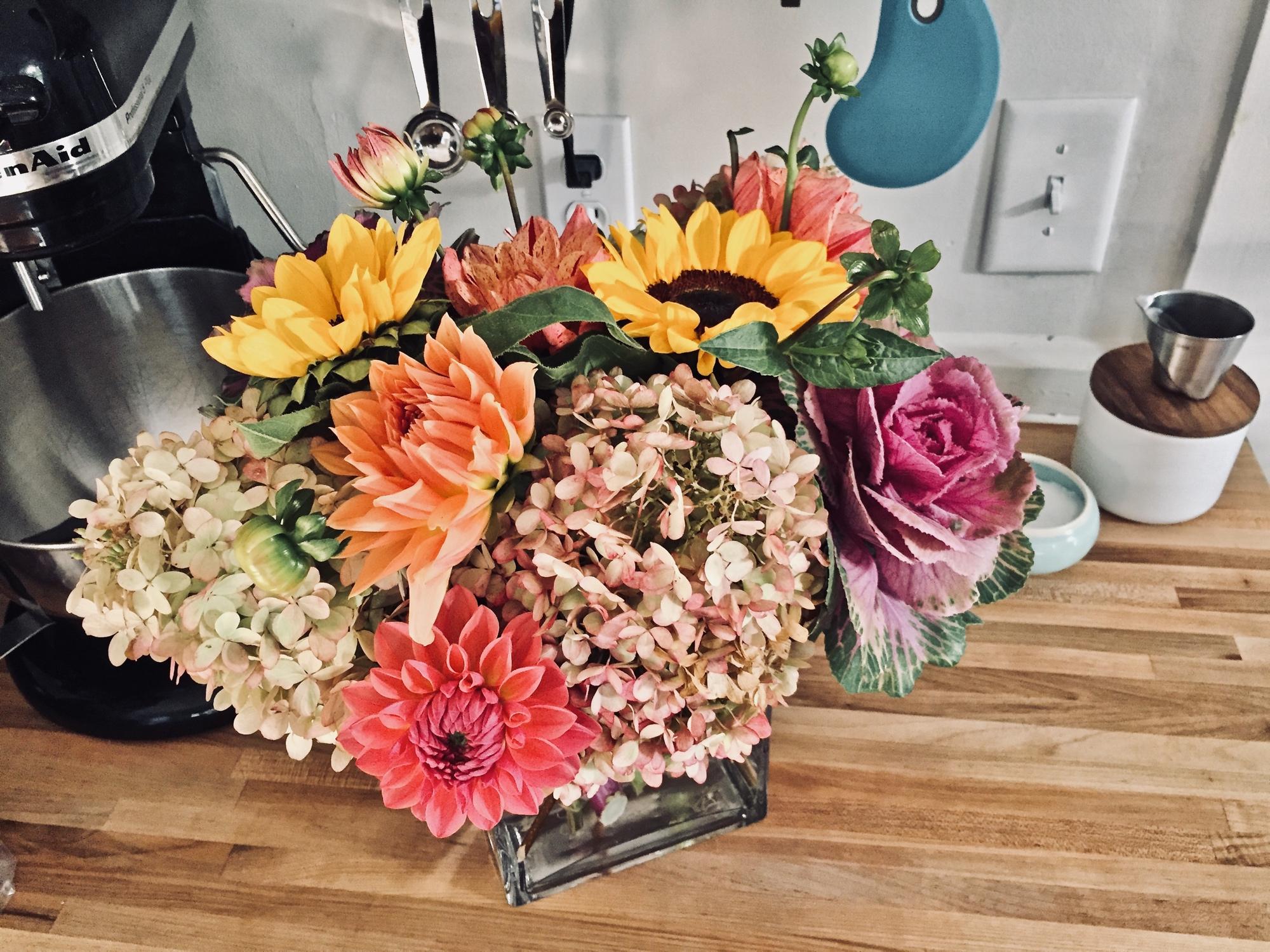 Floral arrangement by Jephry Floral Studio Photo by Barbra Revill