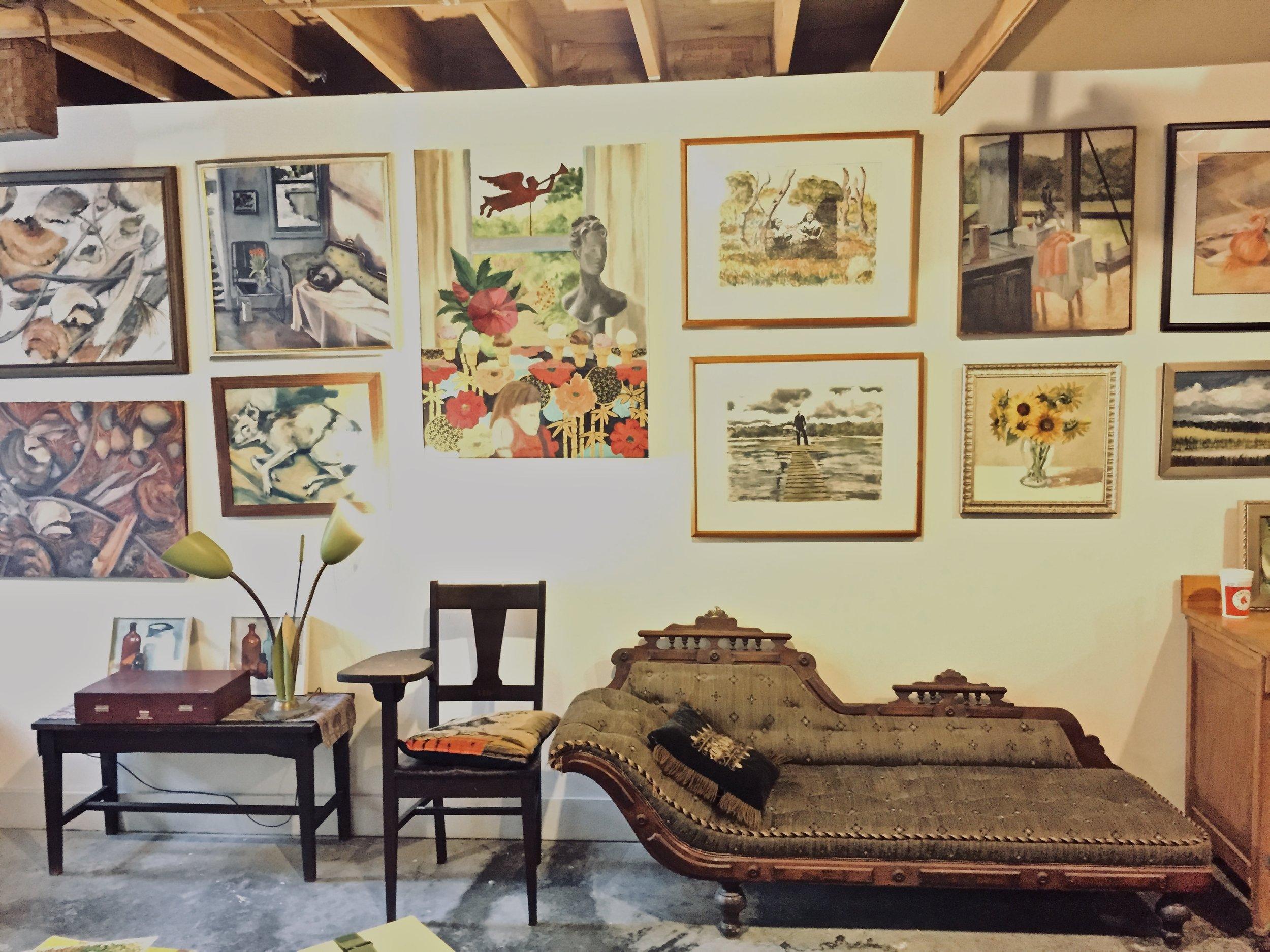 A garden basement painting studio Photo by Barbra Revill