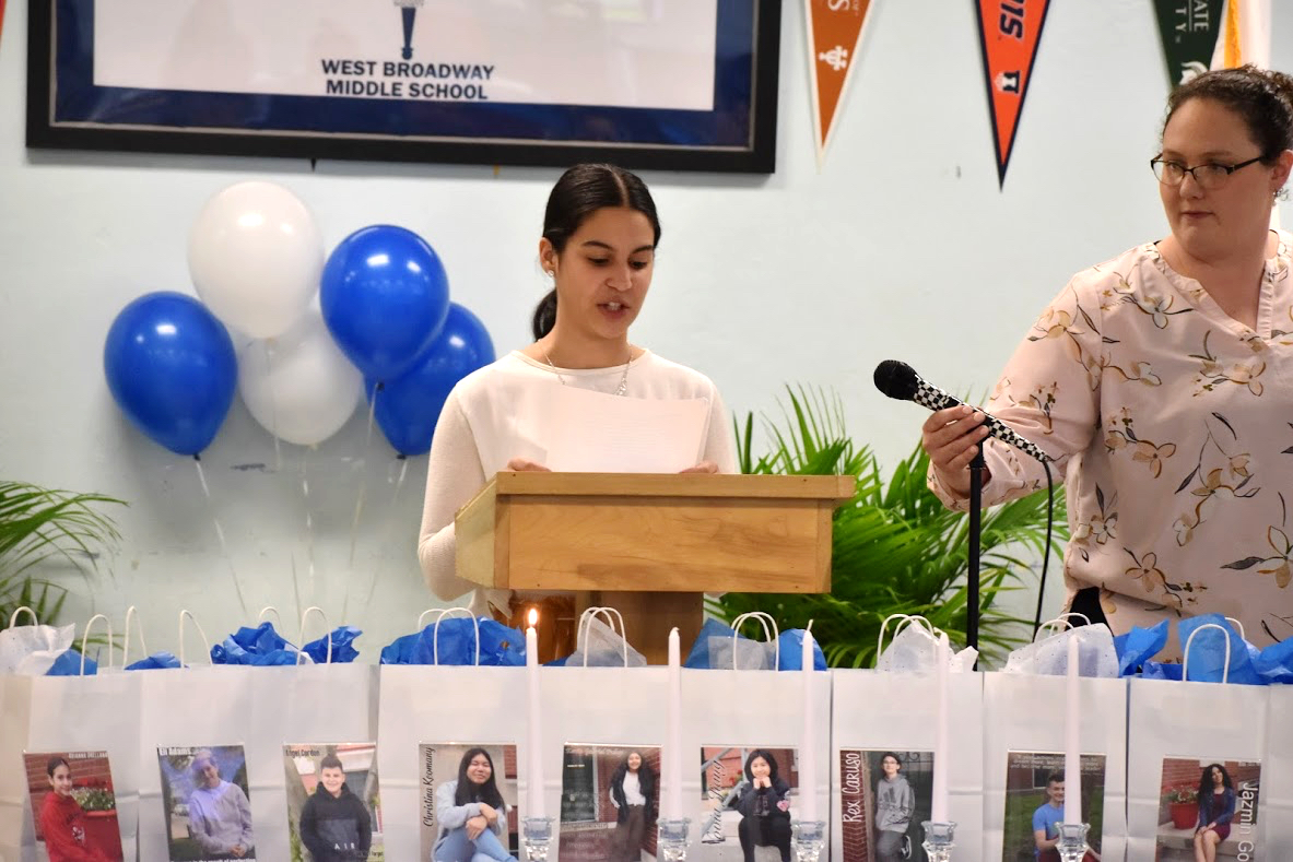 Daniery, a new NJHS member, speaks to the importance of scholarship
